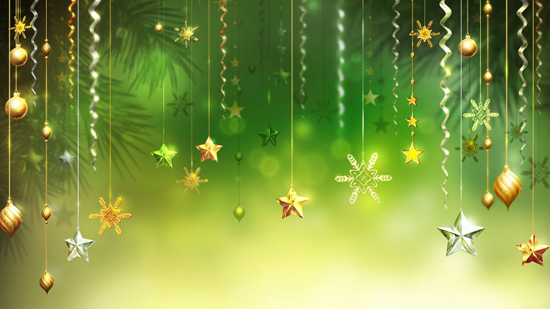 Green Christmas wallpaper theme