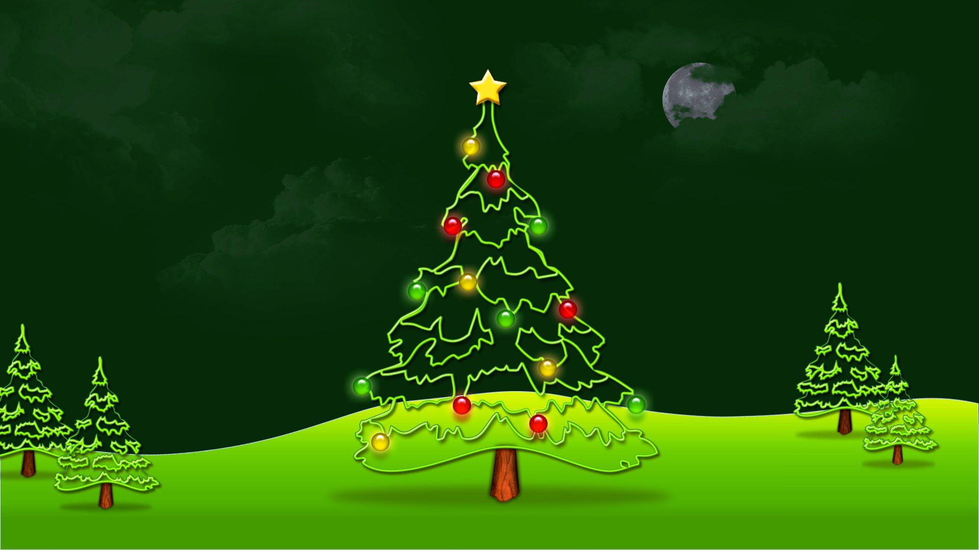 Green Christmas 1080p Wallpaper