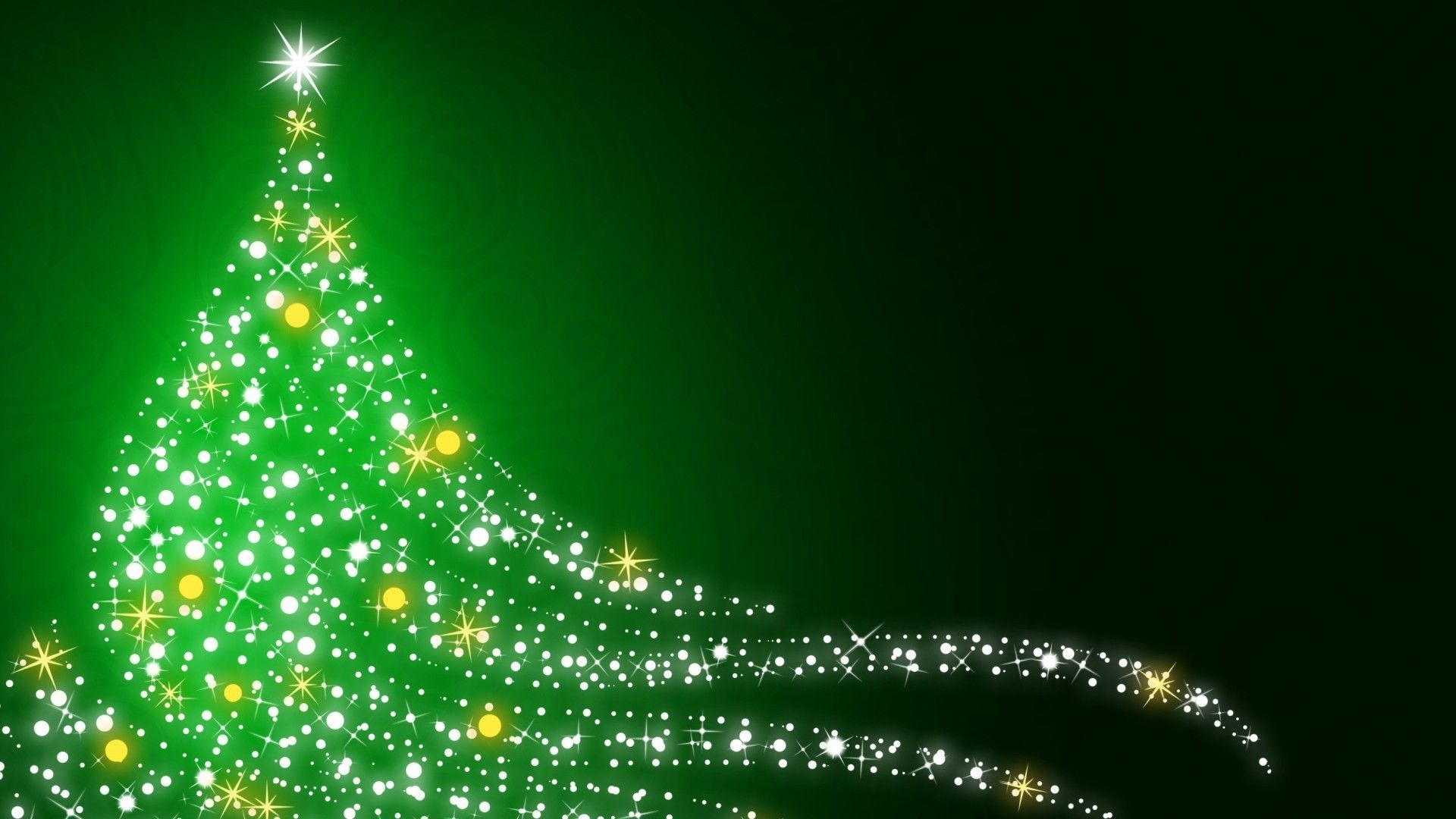 Green Christmas computer wallpaper