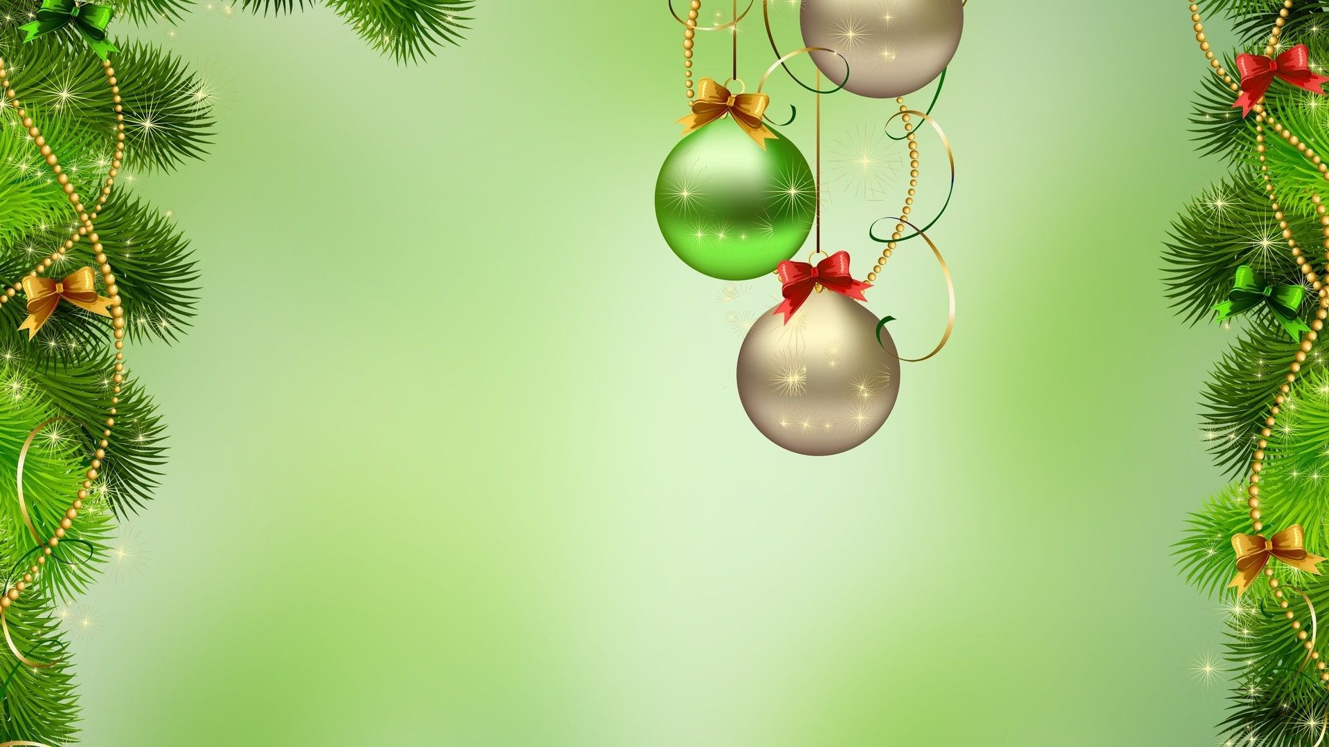 Green Christmas background wallpaper