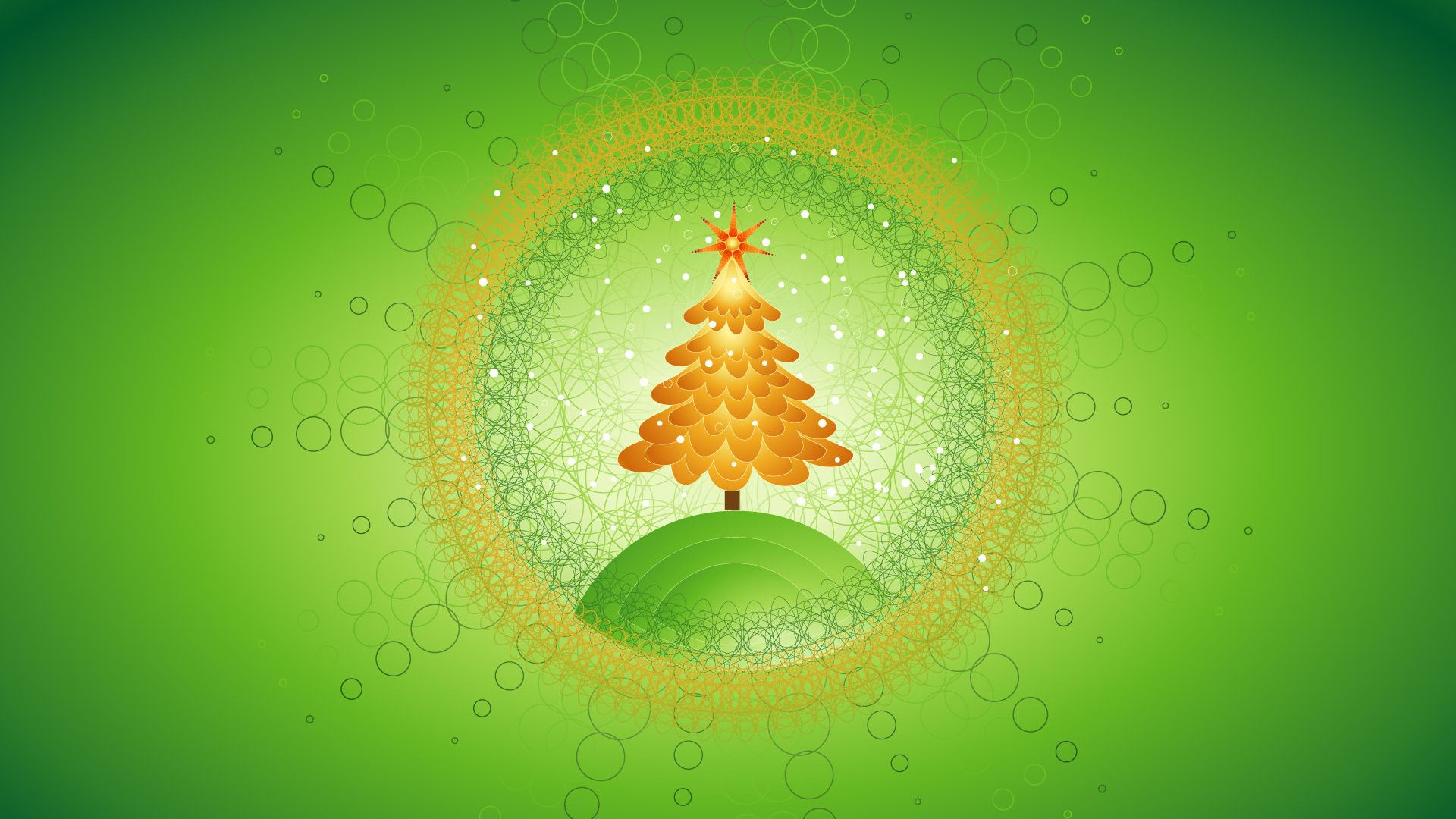 Green Christmas best Wallpaper