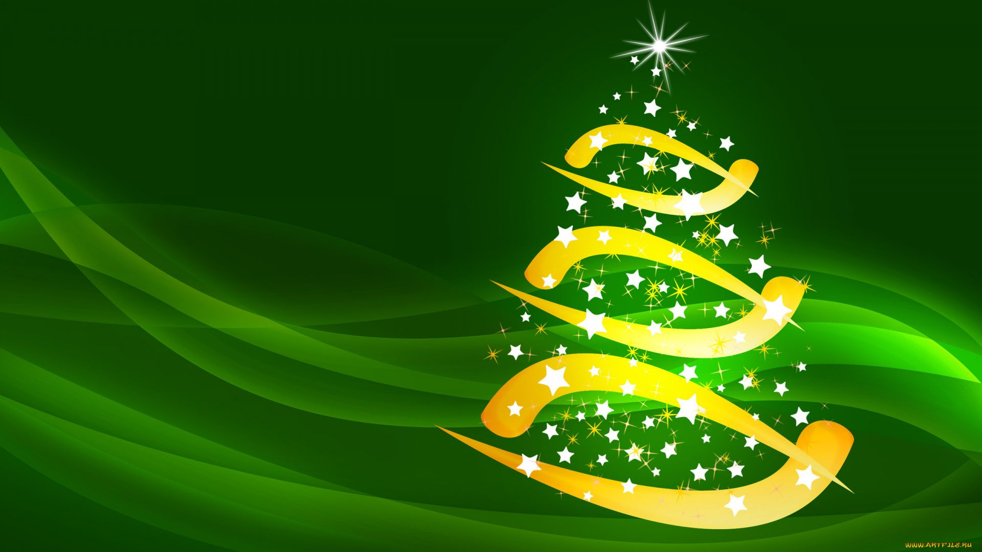 Green Christmas Free Wallpaper and Background