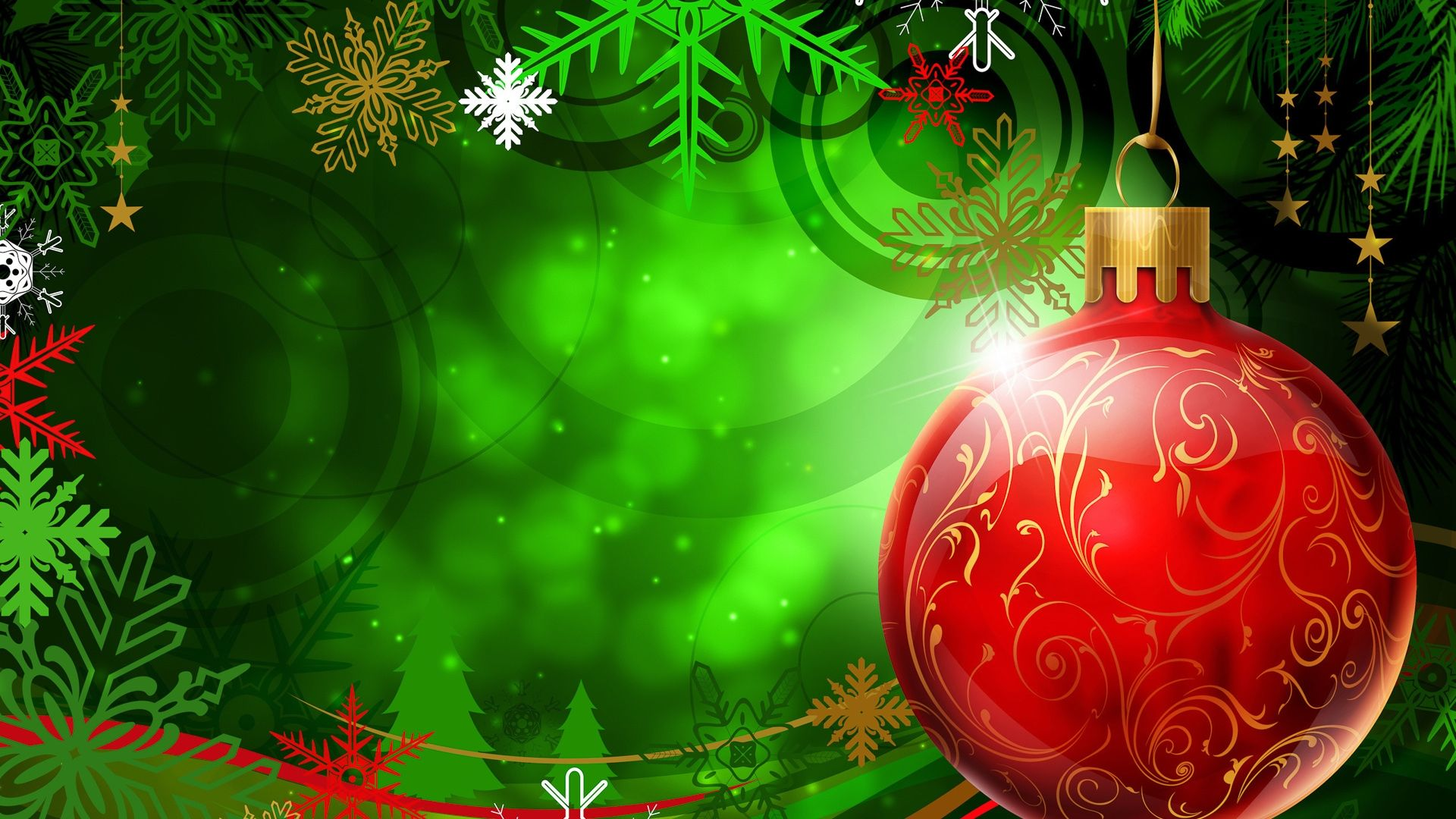 Green Christmas beautiful wallpaper