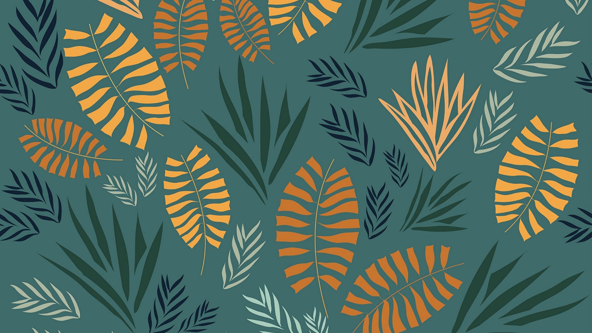 Leaf Pattern beautiful wallpaper