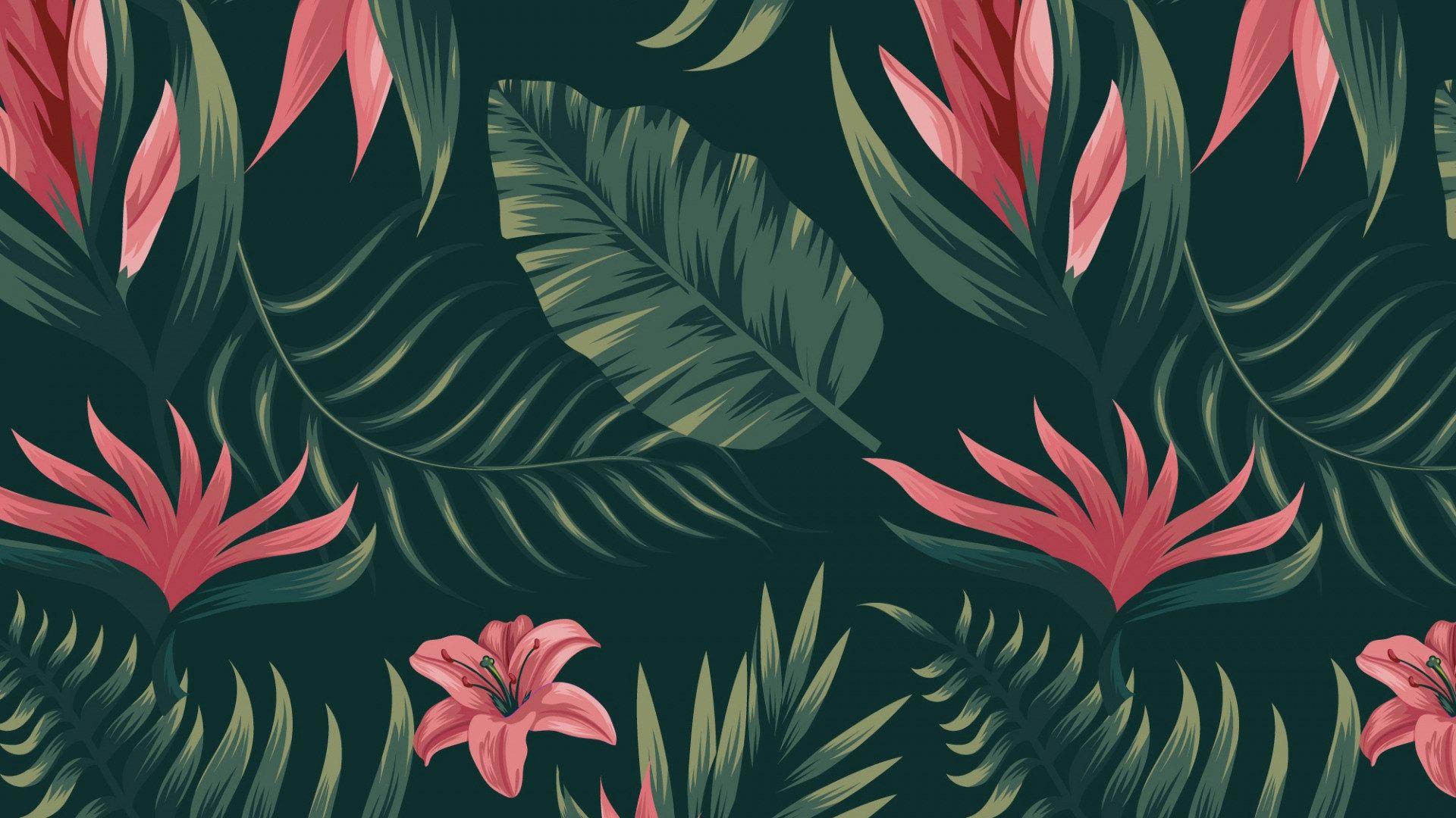Leaf Pattern download wallpaper image
