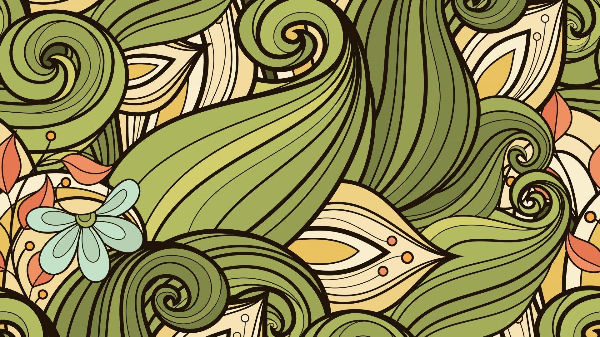 Leaf Pattern desktop wallpaper