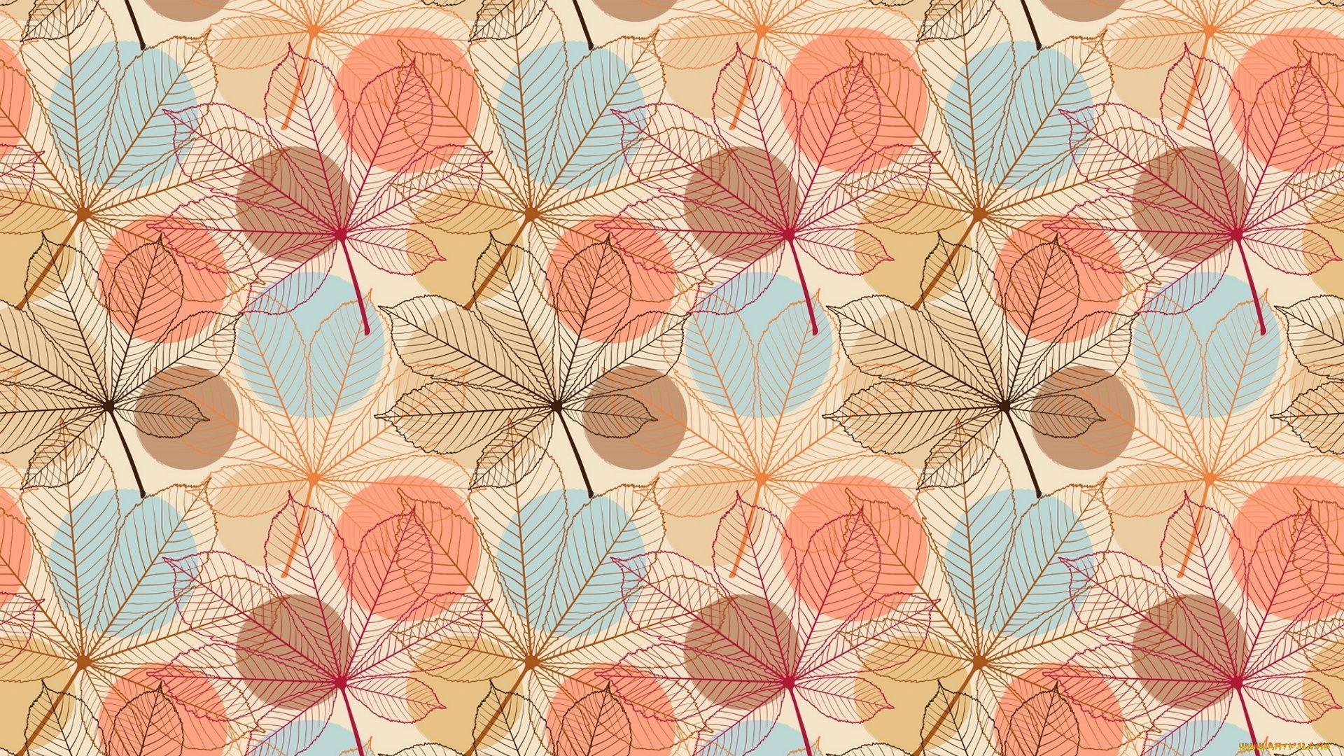 Leaf Pattern Wallpaper Theme