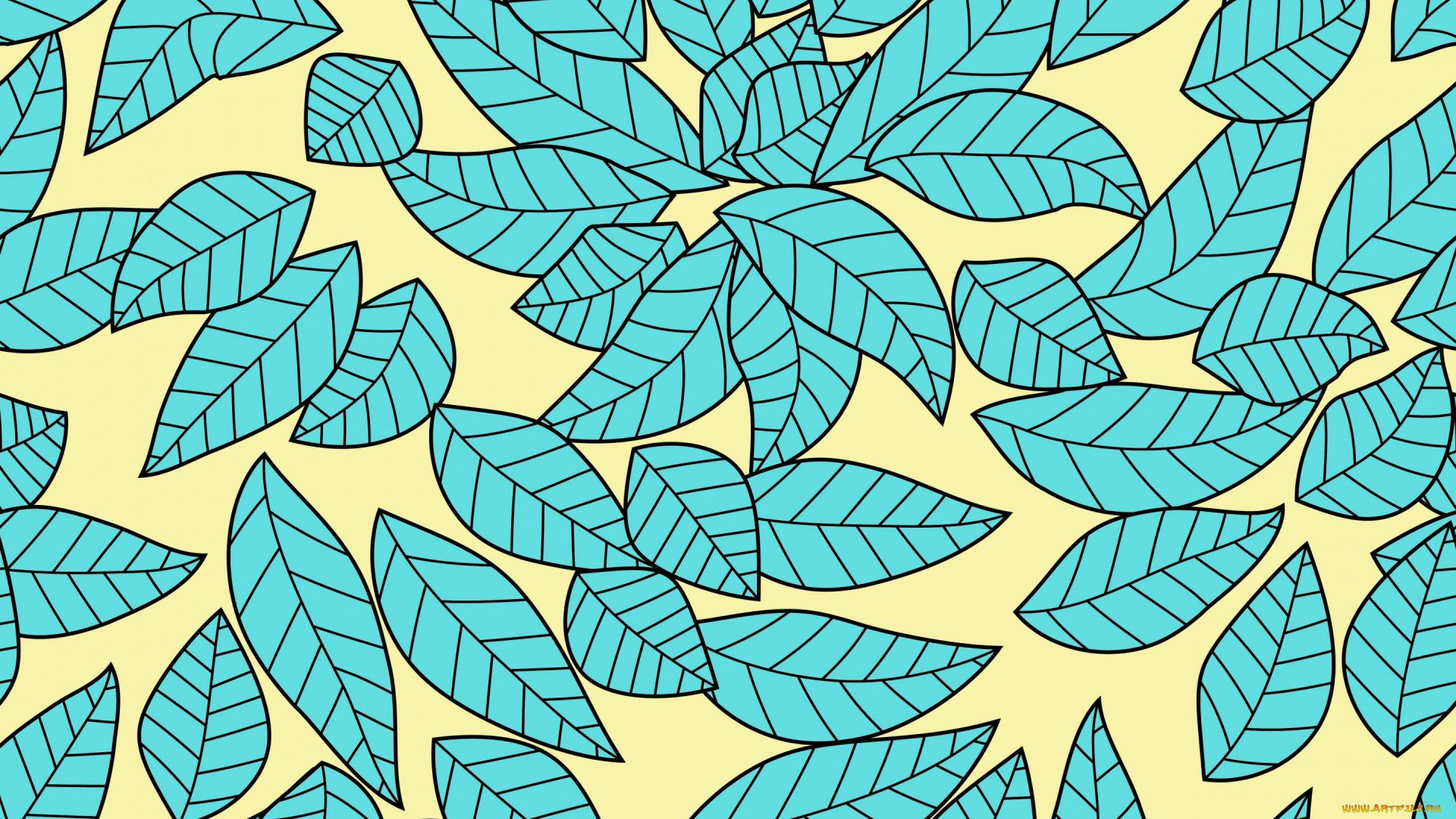 Leaf Pattern Cool Wallpaper