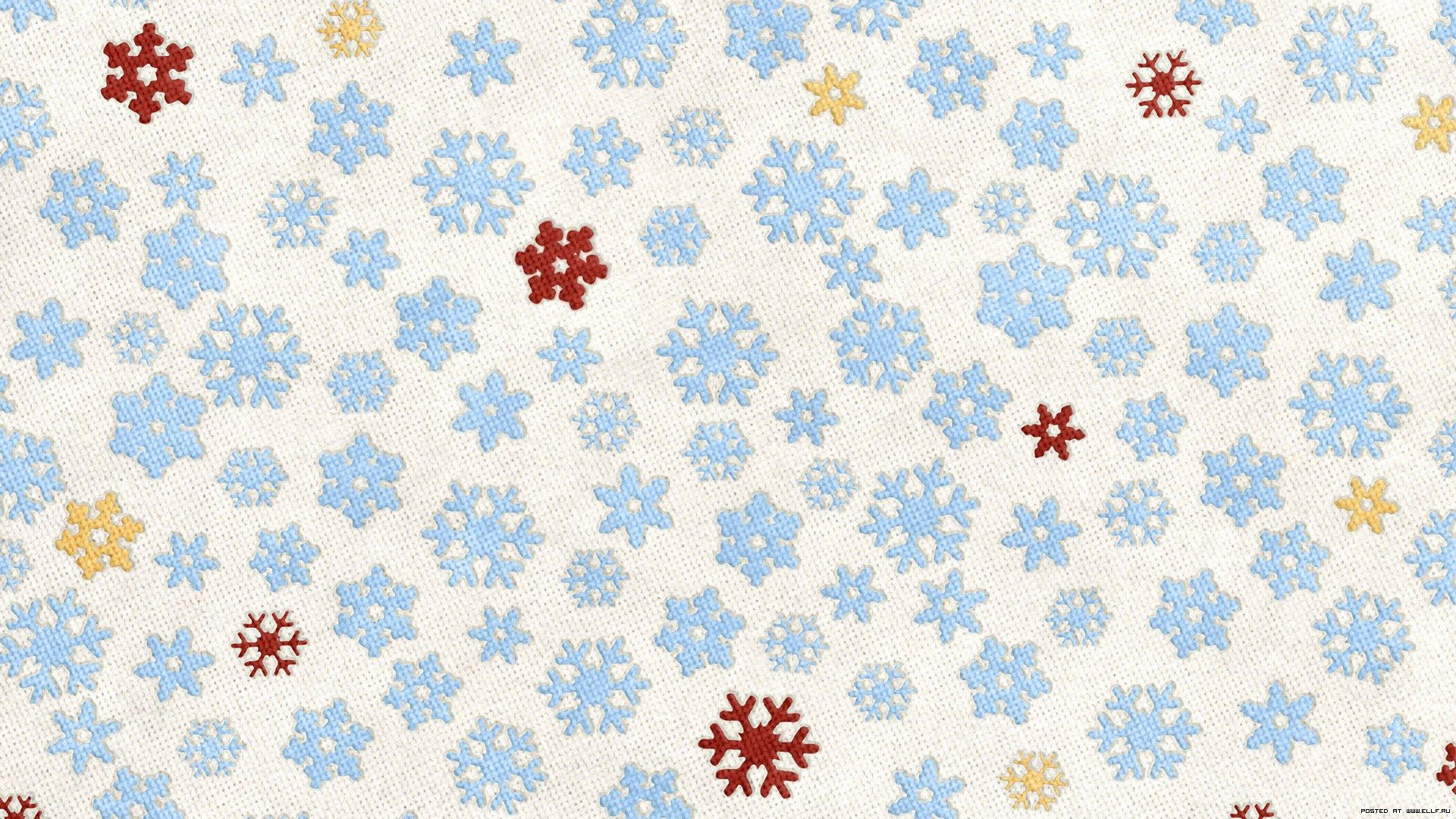 New Year With Snowflakes full screen hd wallpaper