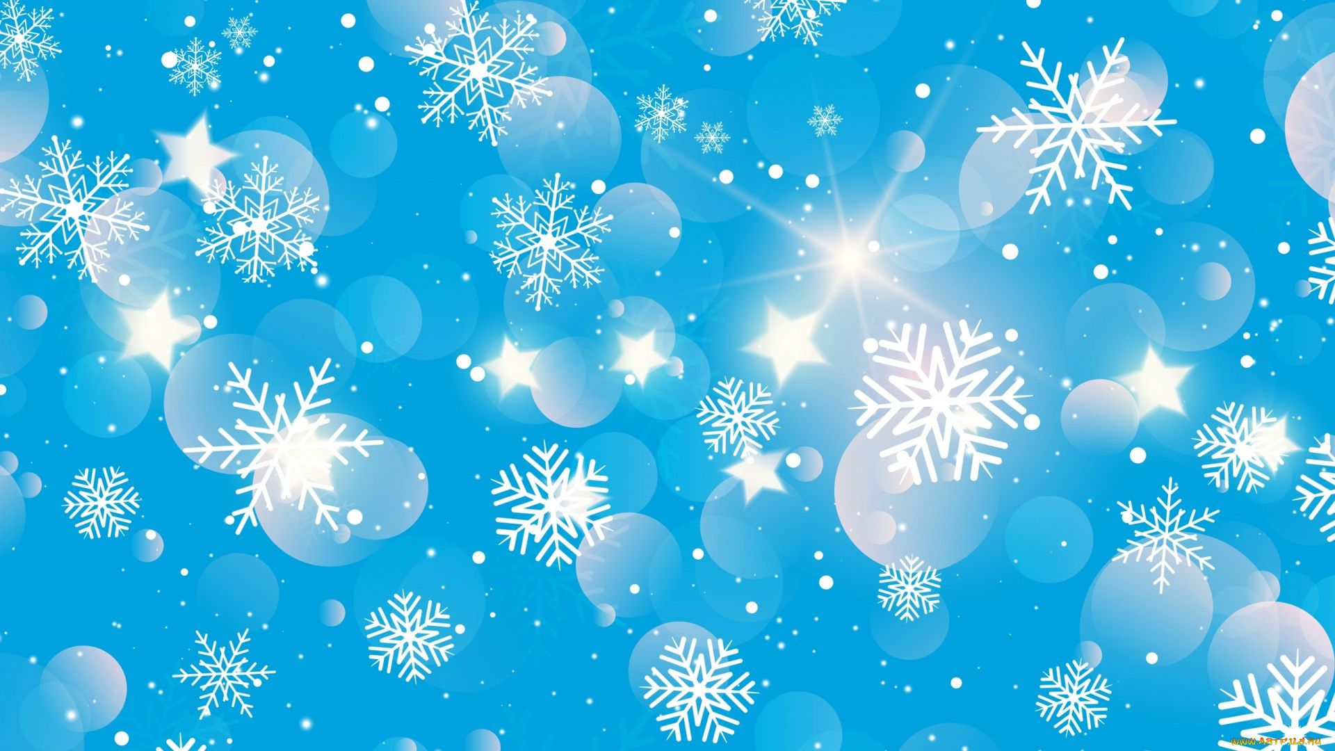 New Year With Snowflakes wallpaper image hd