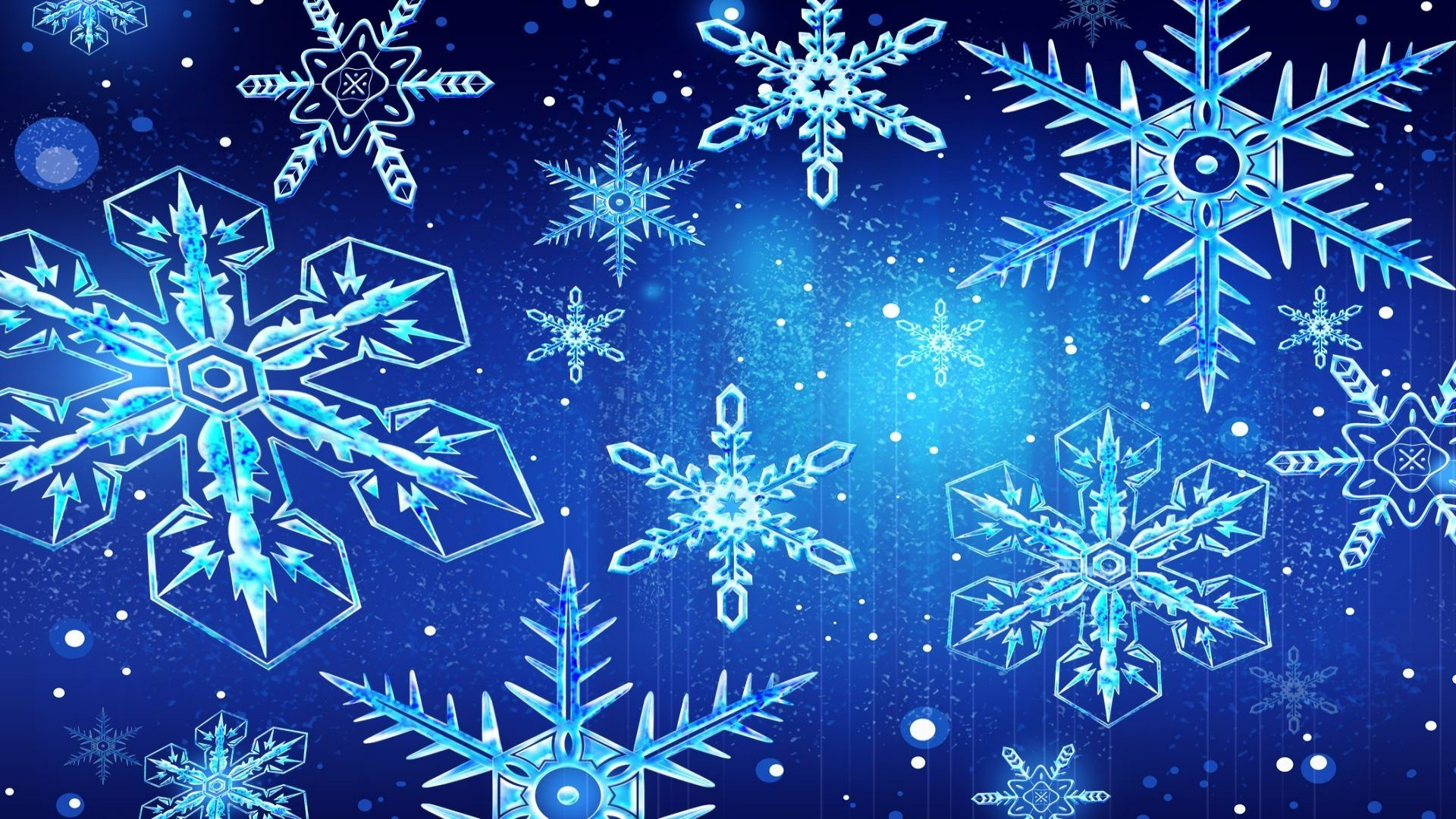 New Year With Snowflakes Free Wallpaper