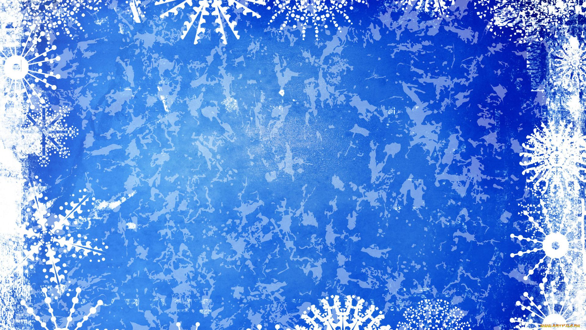 New Year With Snowflakes 1080p Wallpaper