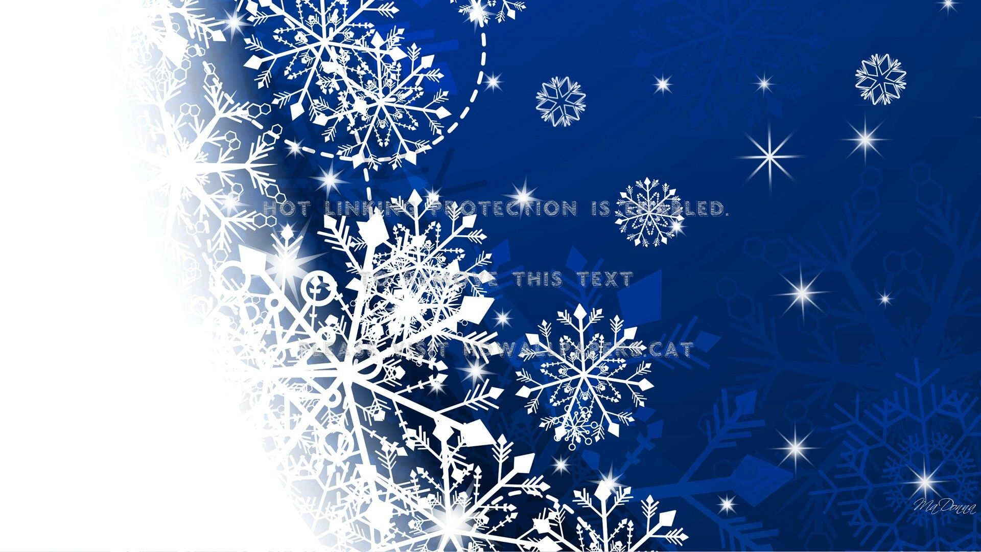 New Year With Snowflakes HD Wallpaper