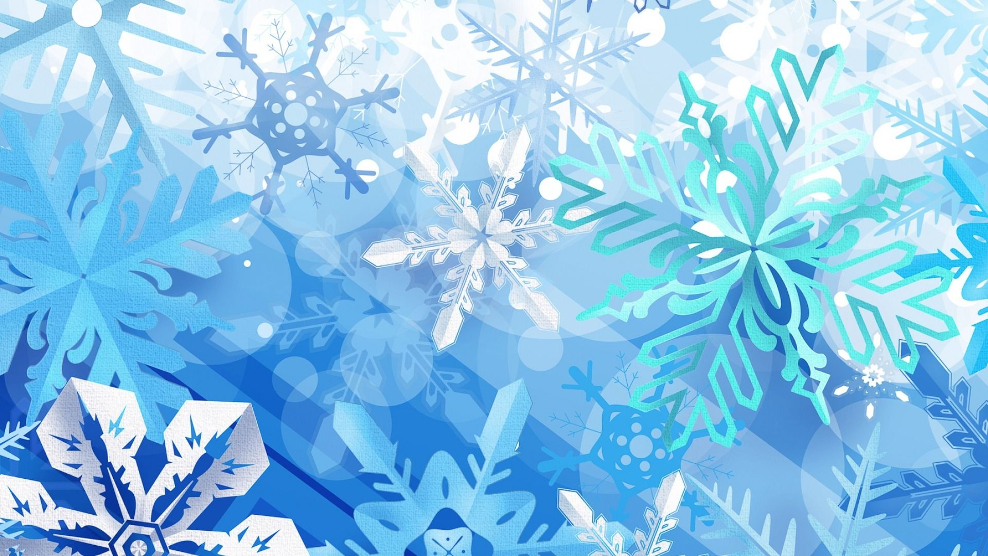 New Year With Snowflakes wallpaper and themes