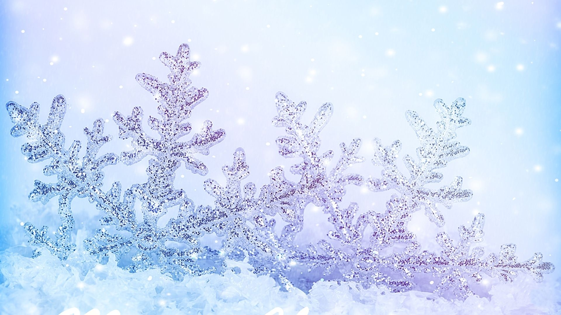 New Year With Snowflakes Wallpaper and Background