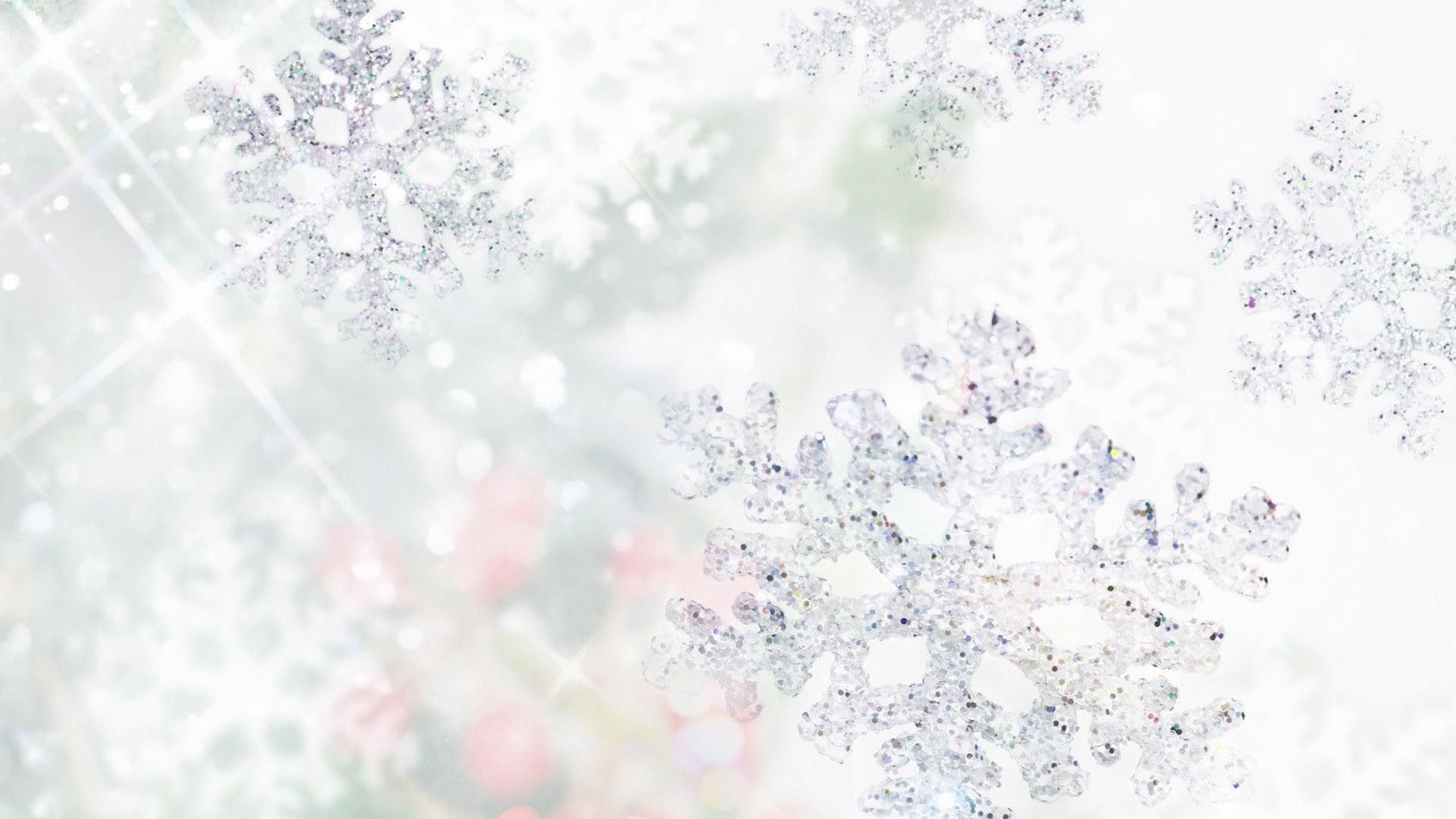 New Year With Snowflakes Wallpaper Image