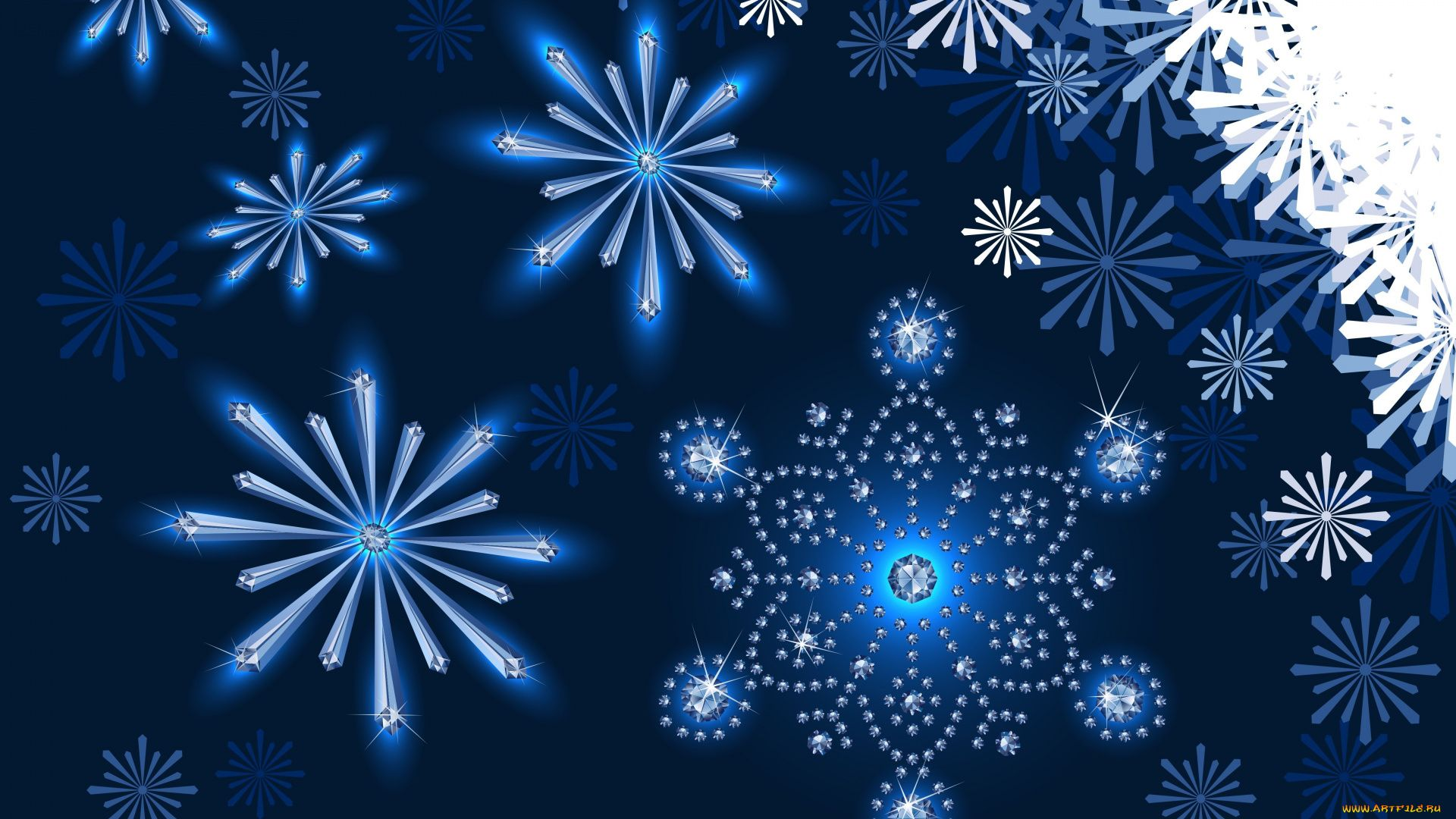 New Year With Snowflakes Pic
