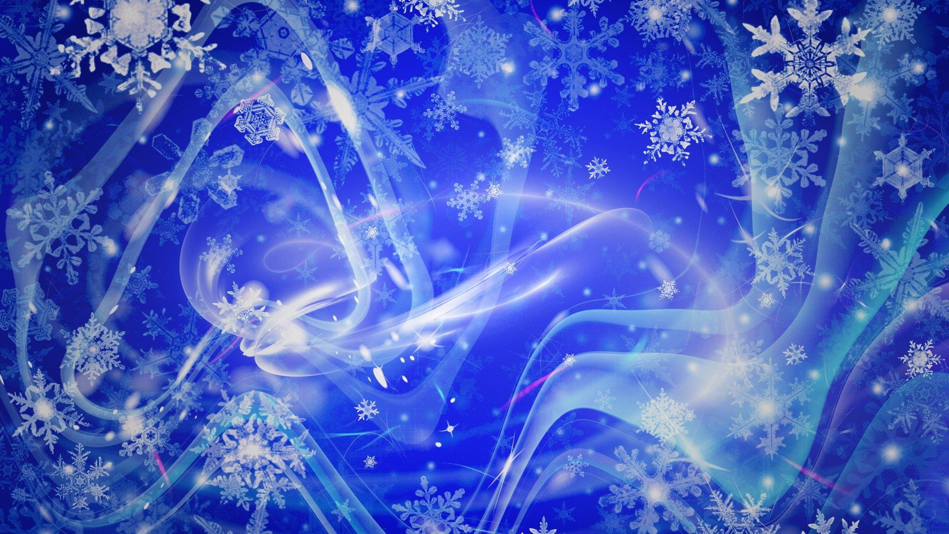 New Year With Snowflakes Background