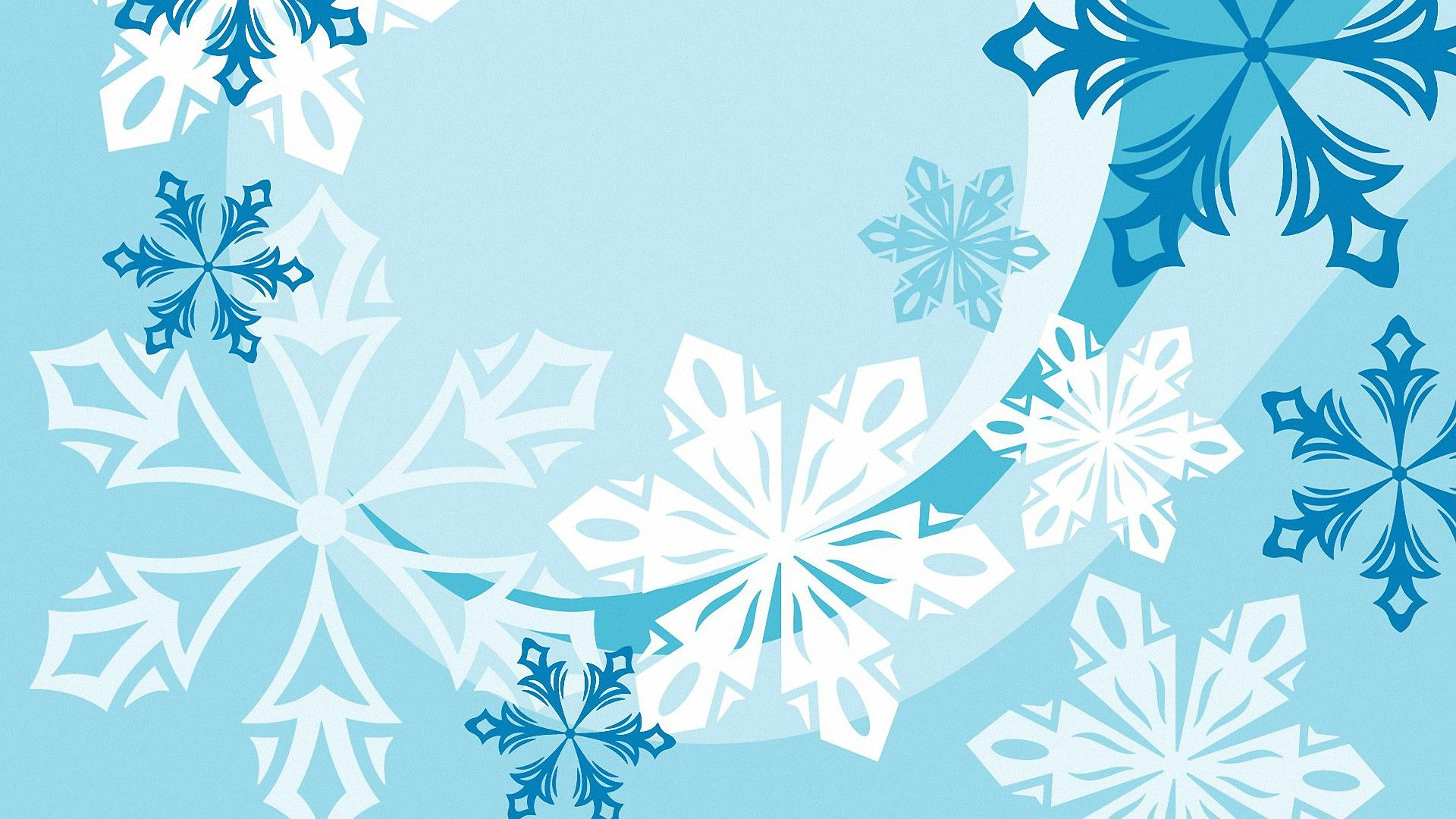 New Year With Snowflakes Desktop Wallpaper
