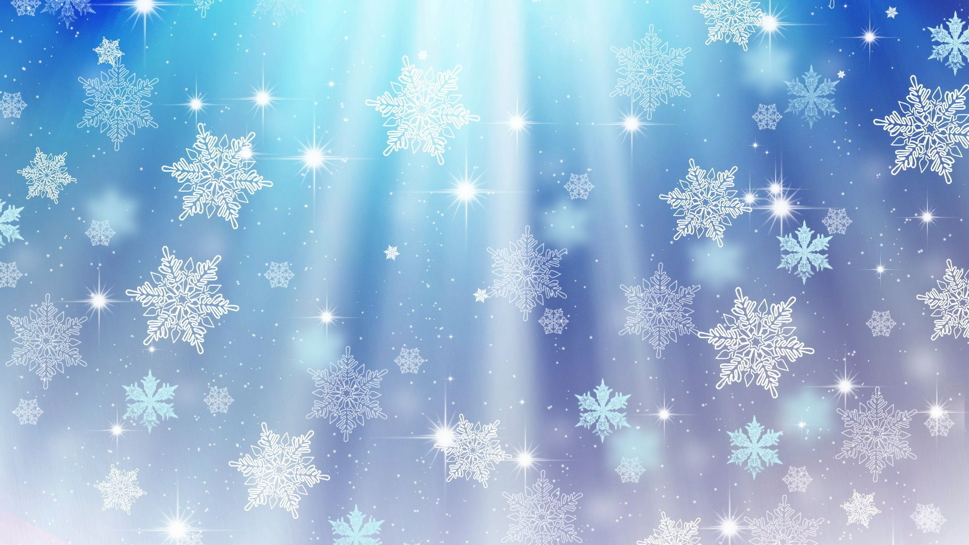 New Year With Snowflakes Wallpaper Picture