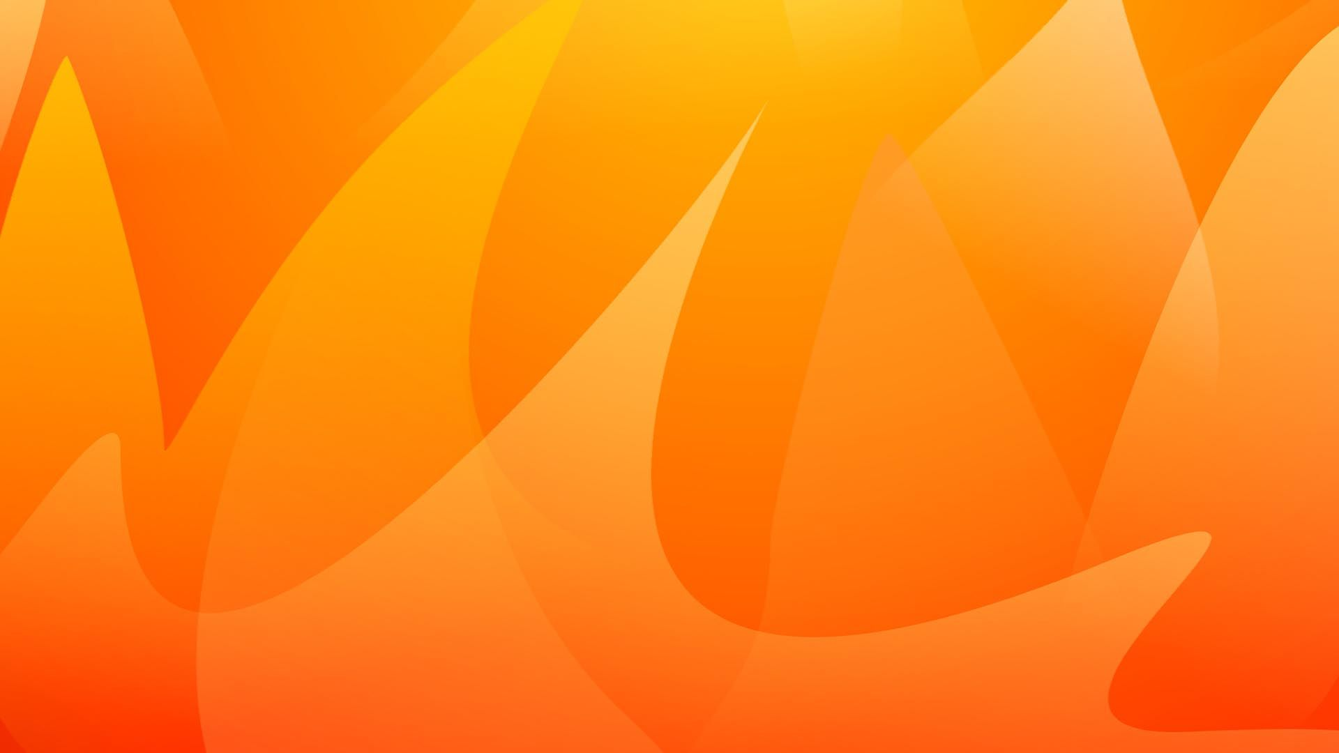 Orange And White HD Wallpaper