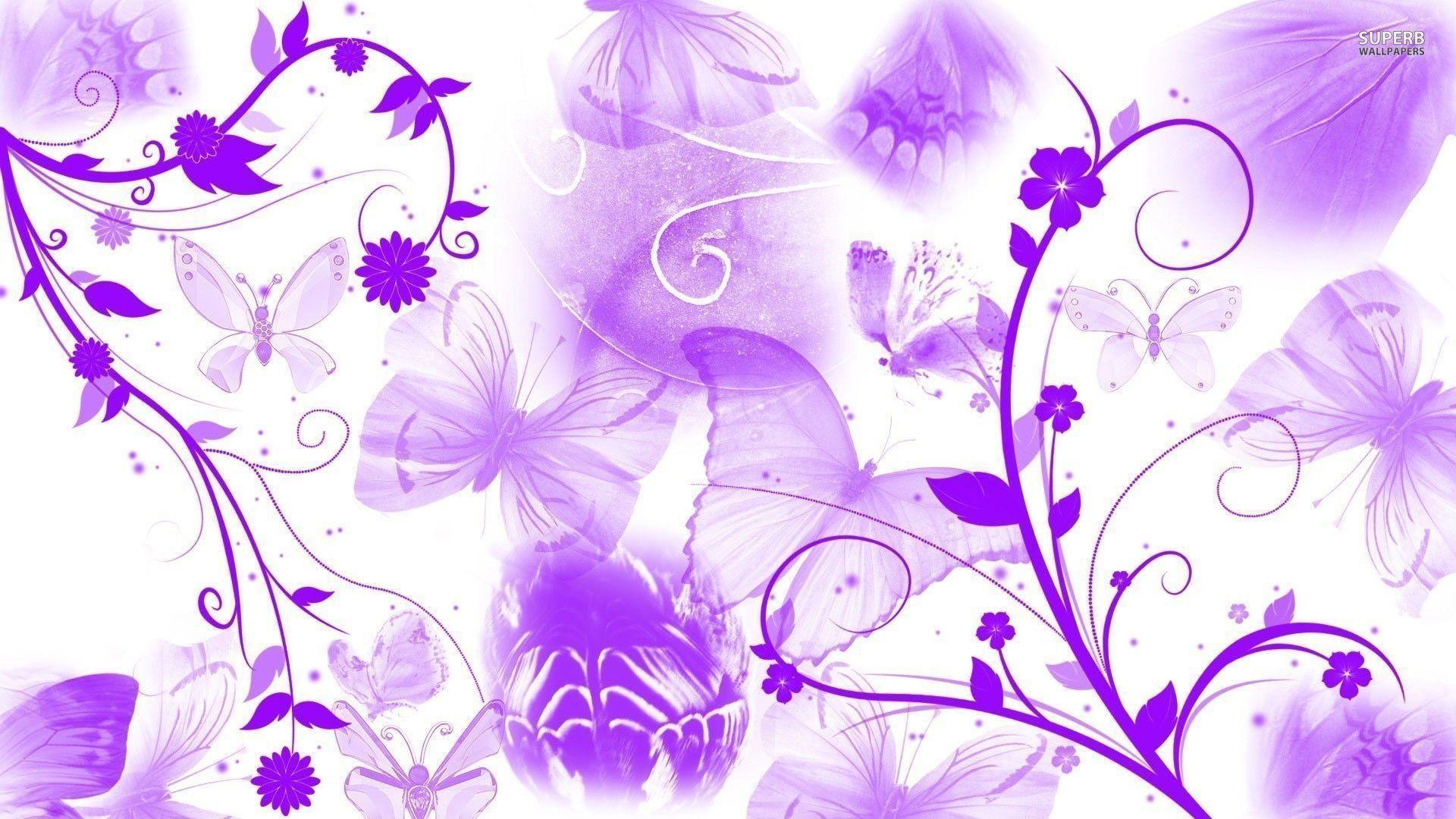 Purple And White Picture