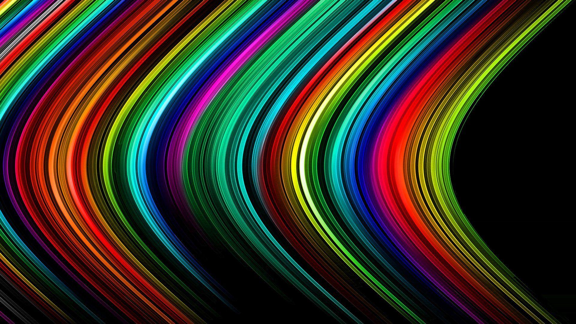 Rainbow Background Wallpaper