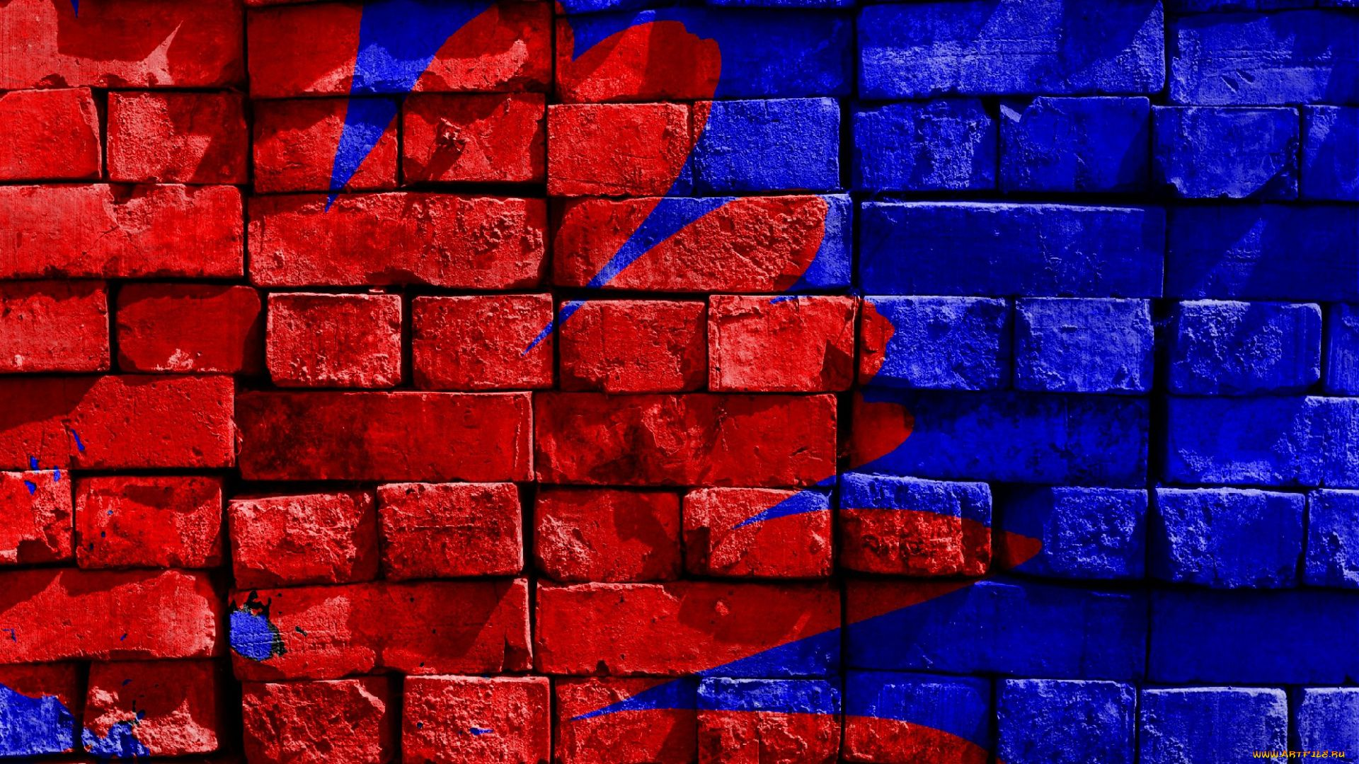 Red And Blue free download wallpaper