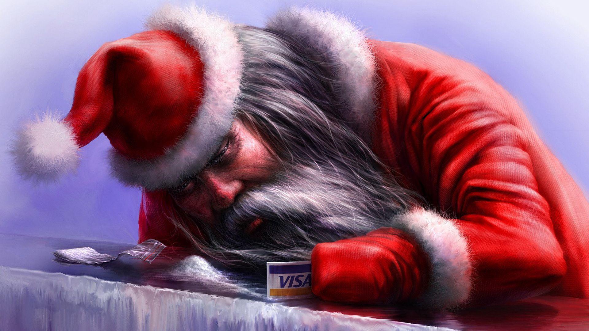 Santa Claus vertical wallpaper hd