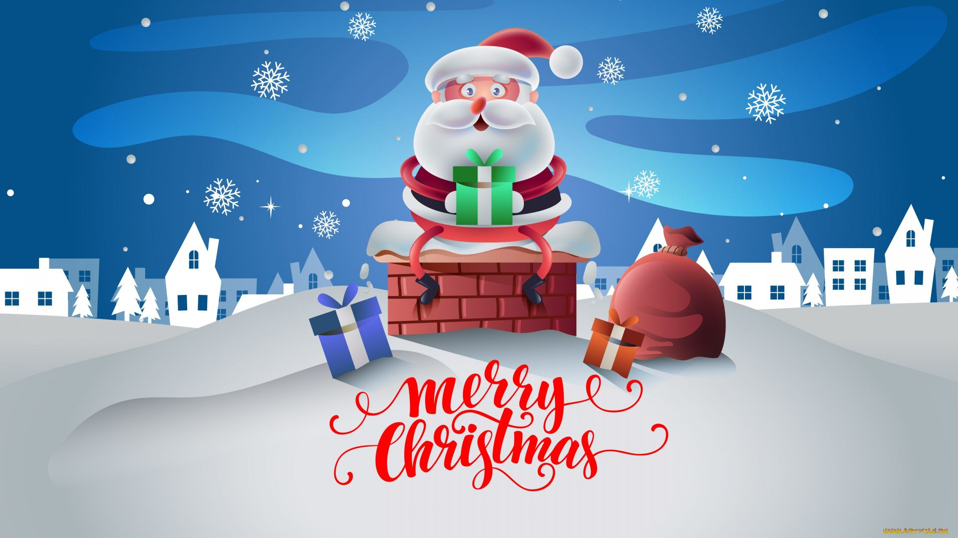 Santa Claus Free Desktop Wallpaper