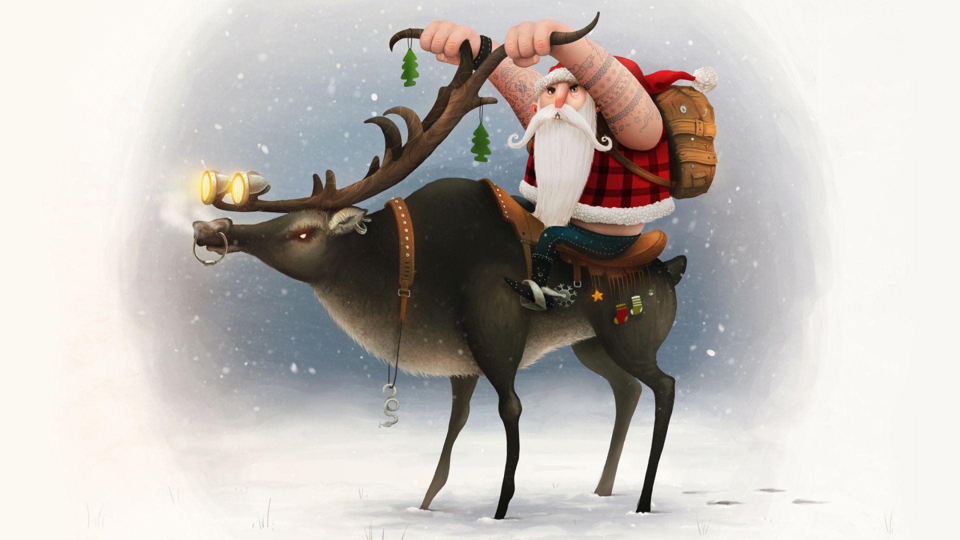Santa Claus full hd wallpaper