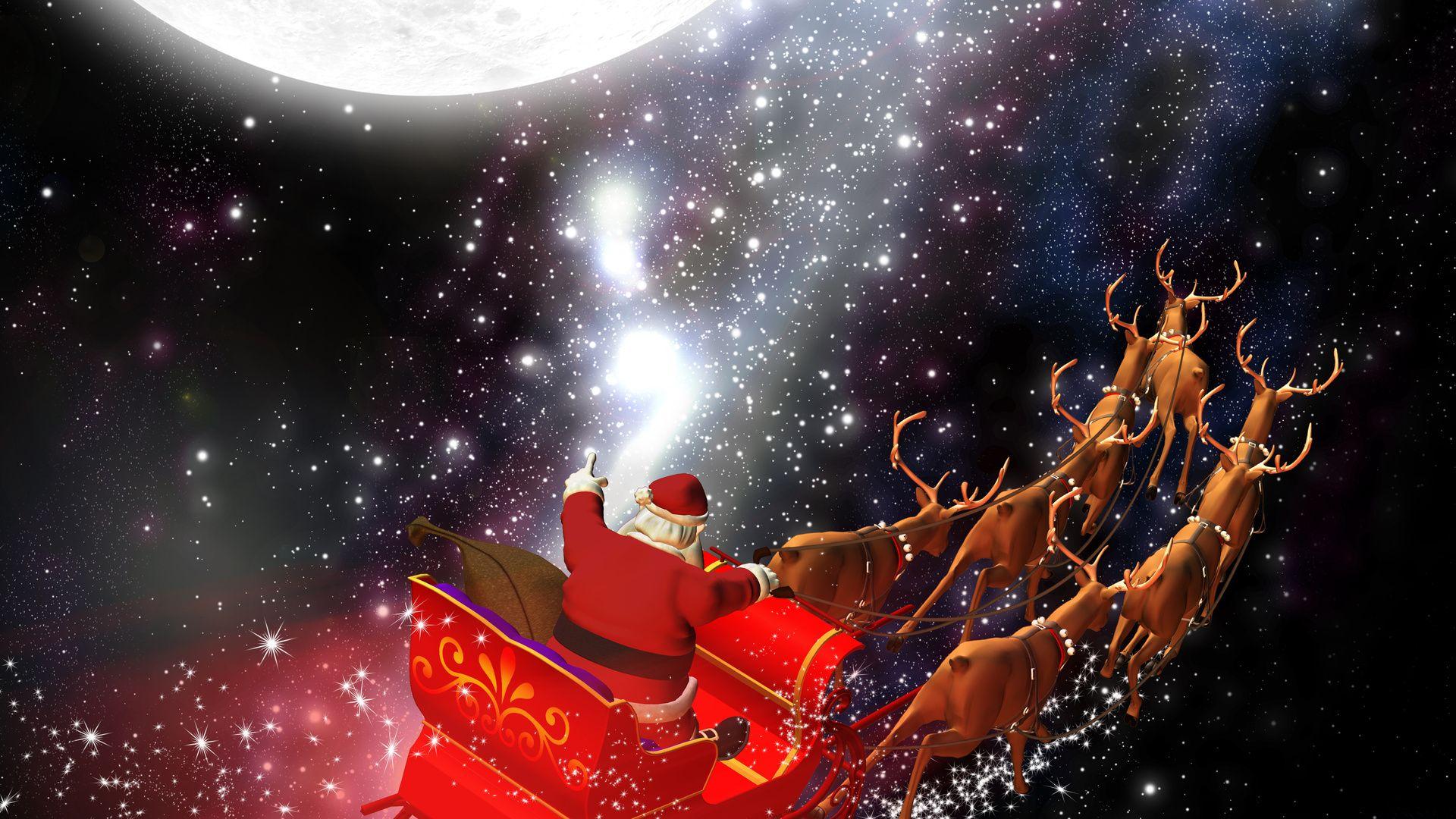 Santa Claus computer wallpaper