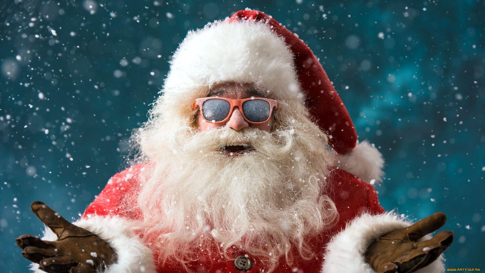 Santa Claus Cool HD Wallpaper