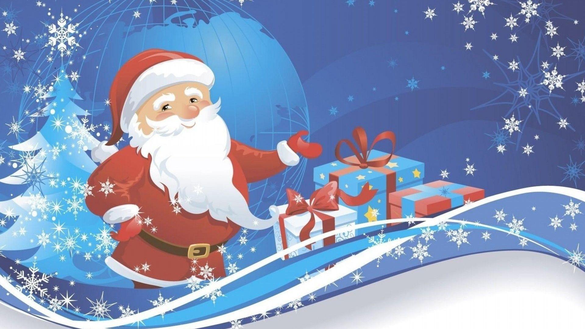 Santa Claus Free Wallpaper