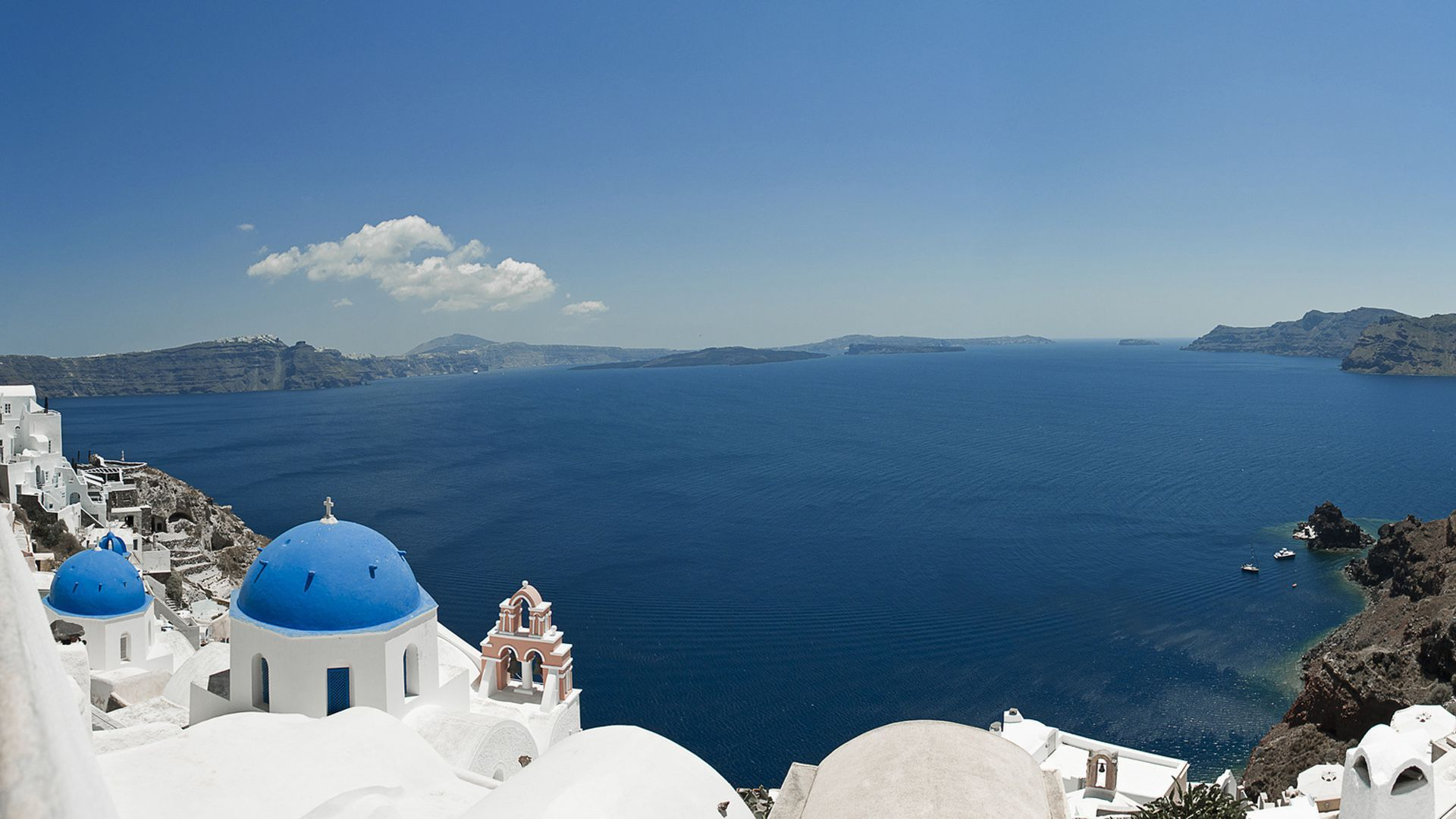 Santorini hd wallpaper 1080p for pc