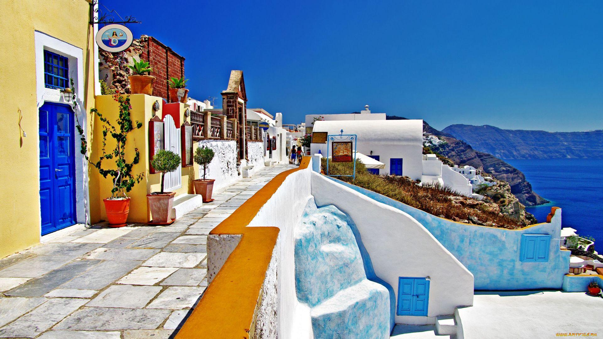 Santorini full hd 1080p wallpaper