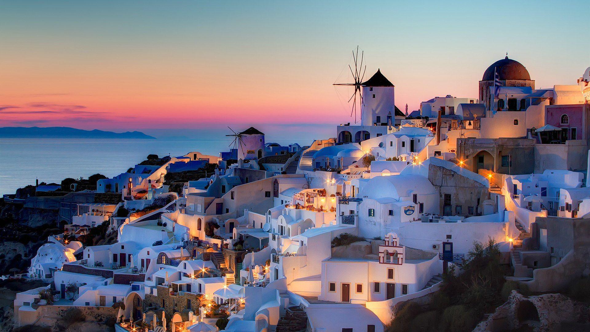 Santorini hd wallpaper download