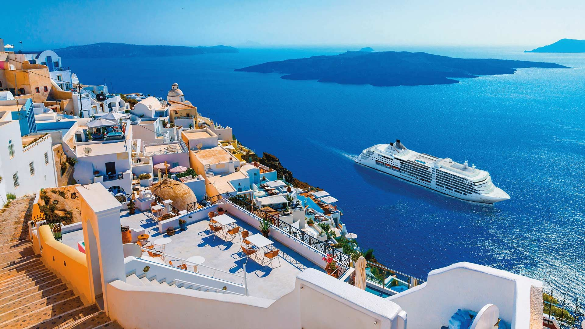 Santorini download free wallpapers for pc in hd