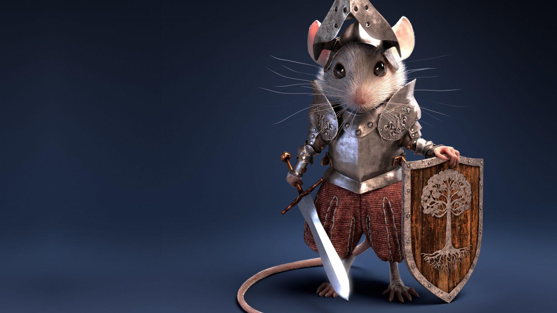 White Metal Rat HD Wallpaper