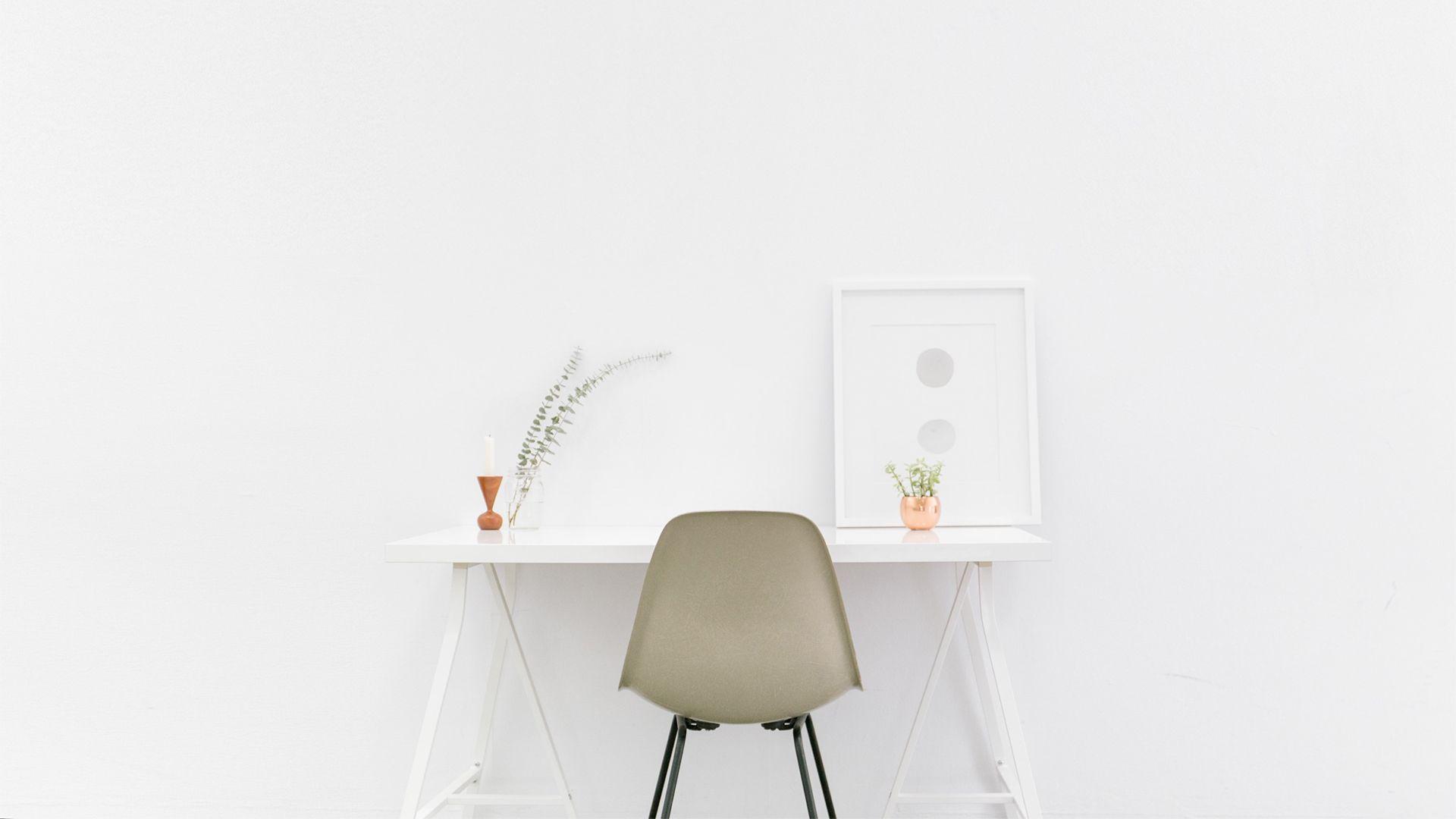 White Minimalism wallpaper image hd