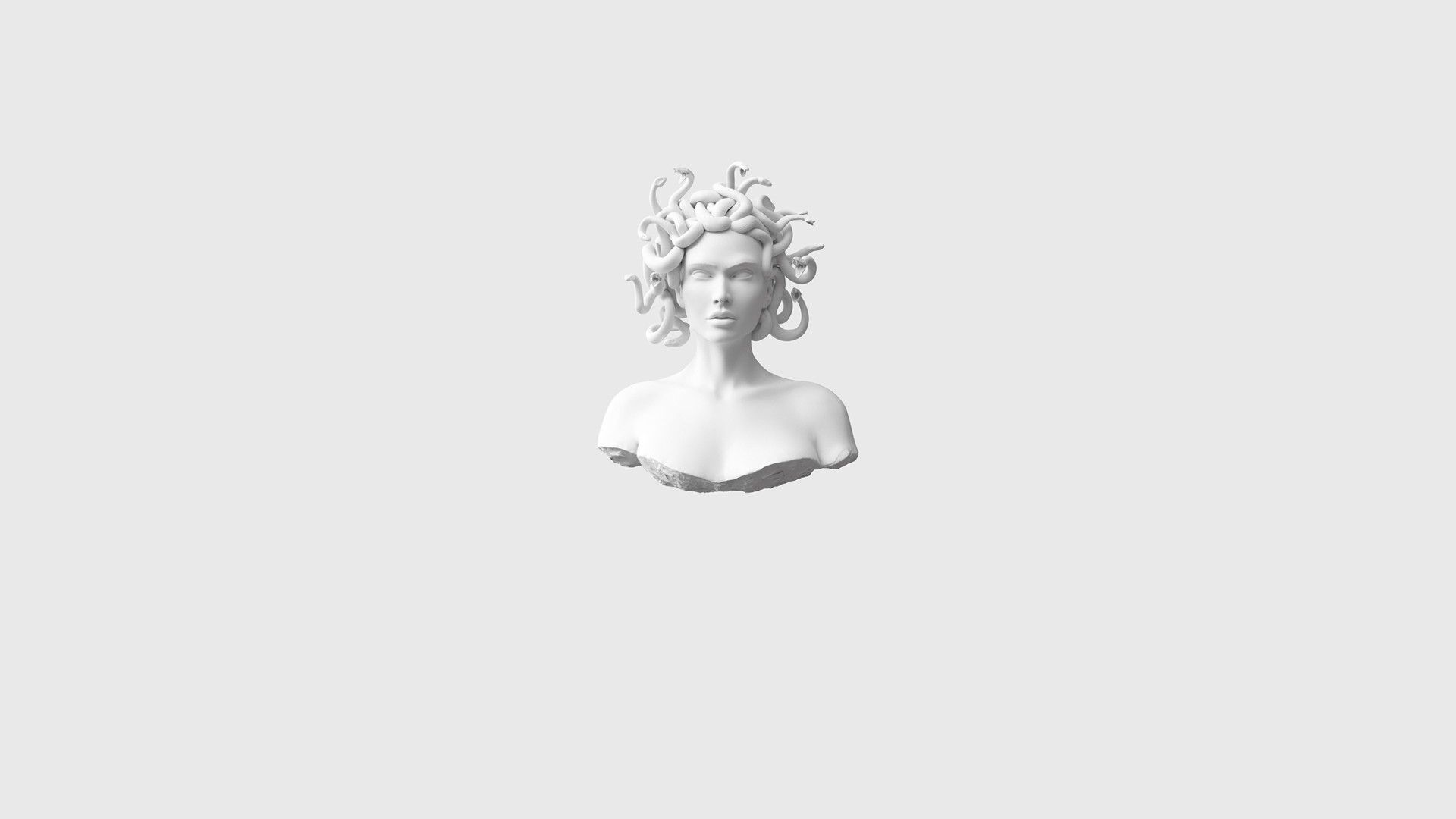 White Minimalism HD Desktop Wallpaper
