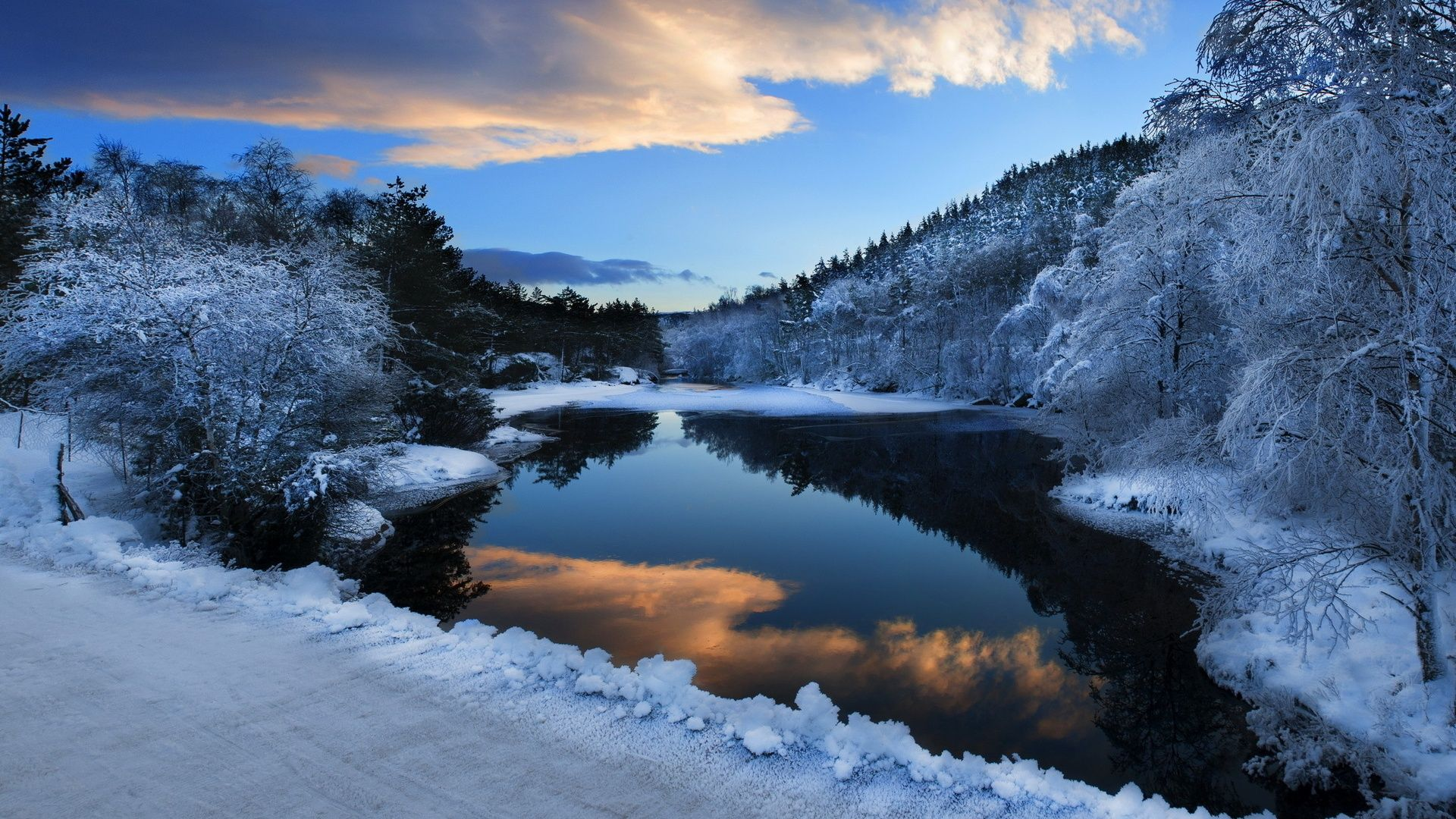 Winter Snow Scenes pc wallpaper
