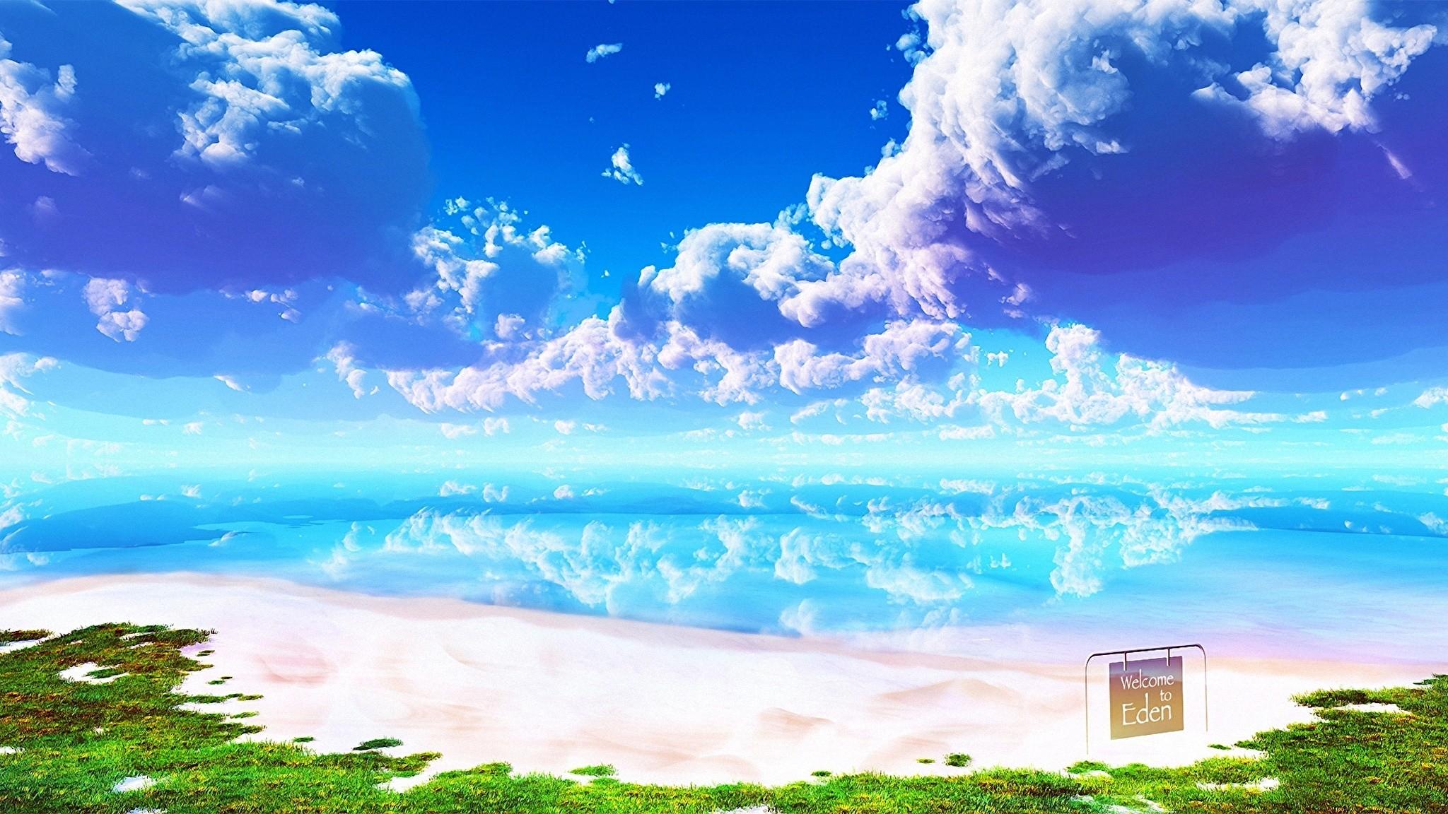 Anime Cloud hd wallpaper download