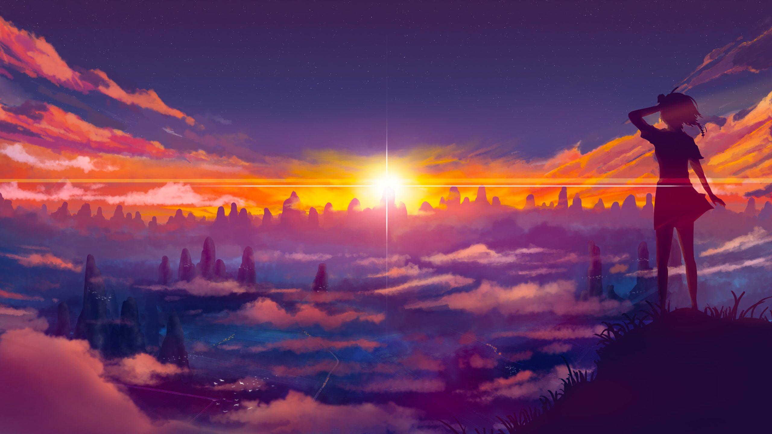 Anime Cloud desktop wallpaper