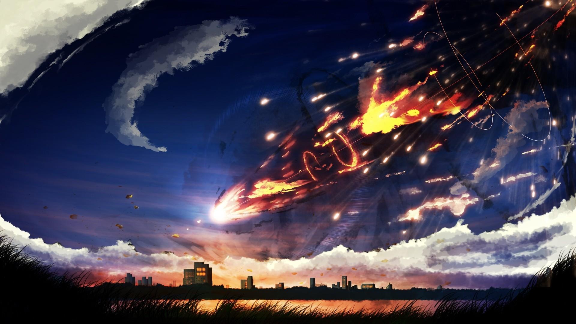 Anime Cloud hd wallpaper 1080