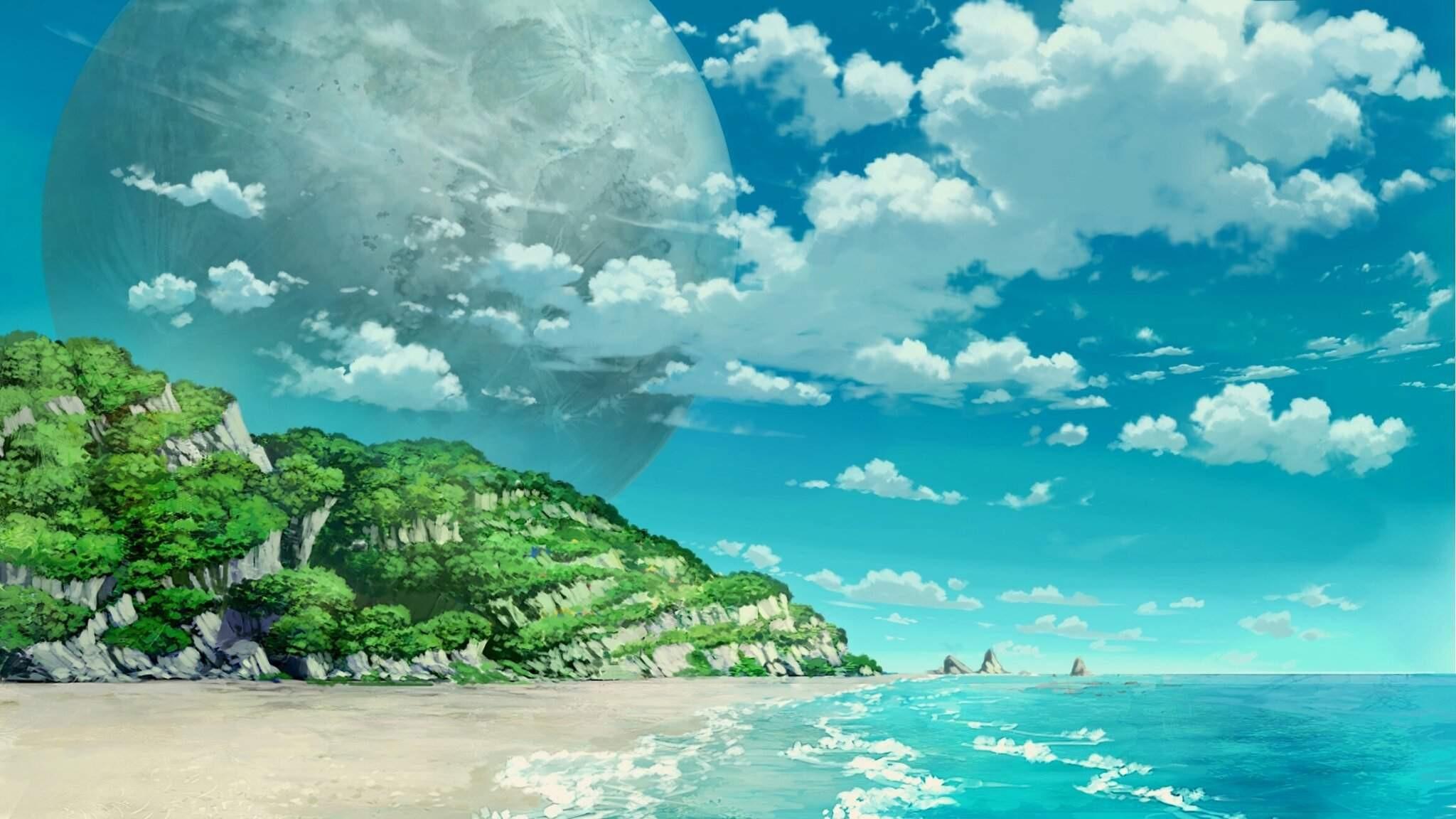 Anime Cloud free hd wallpaper