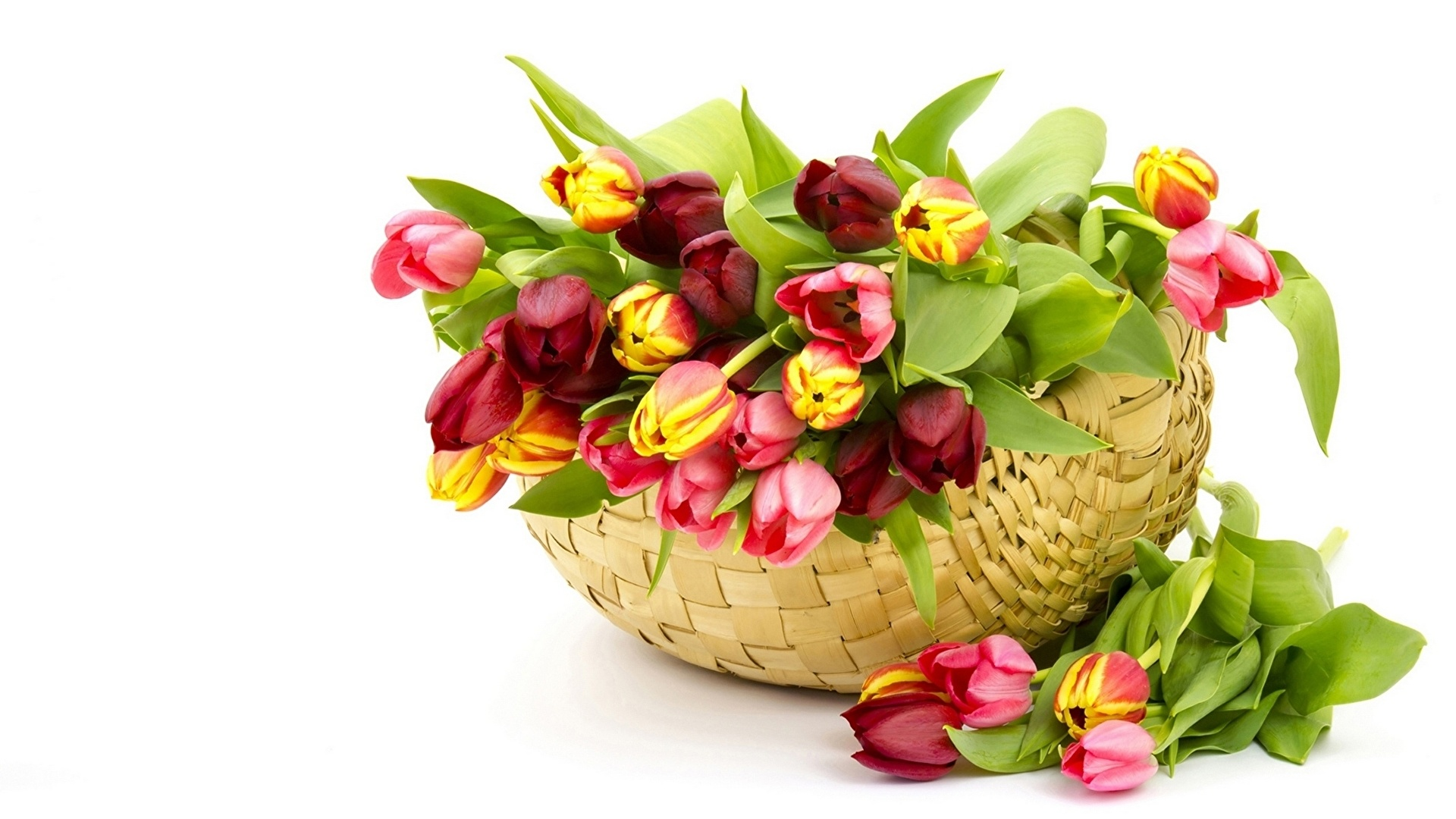 Basket With Flowers full hd image