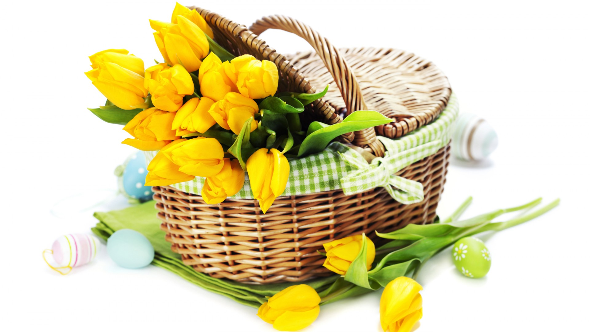 Basket With Flowers free image