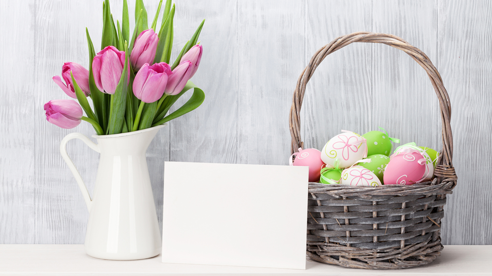 Basket With Flowers wallpaper download