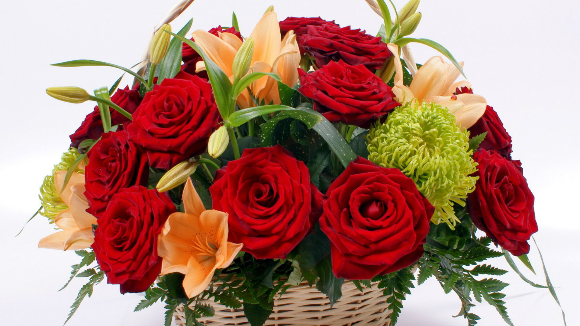 Basket With Flowers wallpaper picture